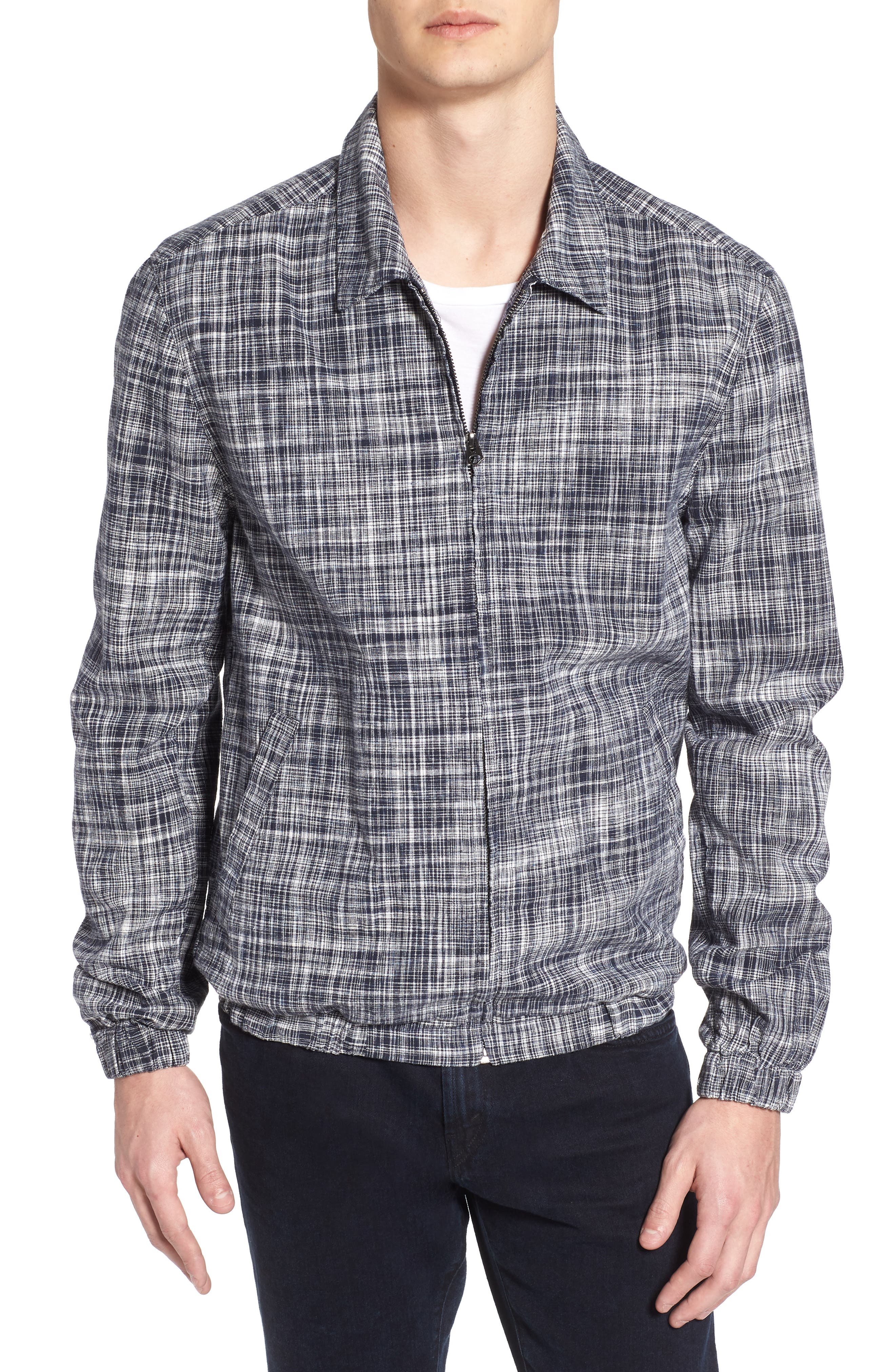 Space Dye Regular Fit Chambray Jacket,                         Main,                         color, 404