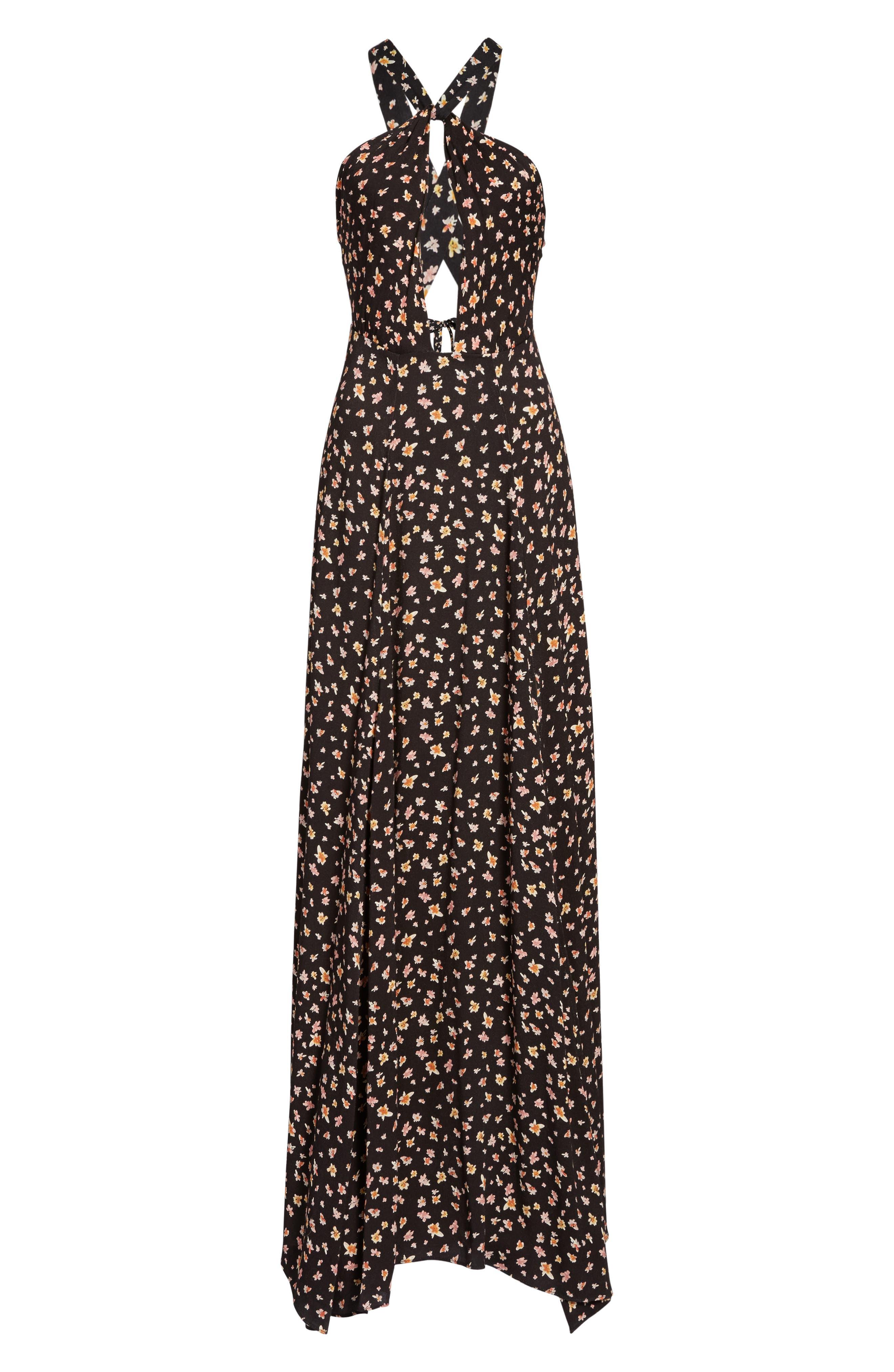 Harlean Halter Maxi Dress,                             Alternate thumbnail 6, color,                             010