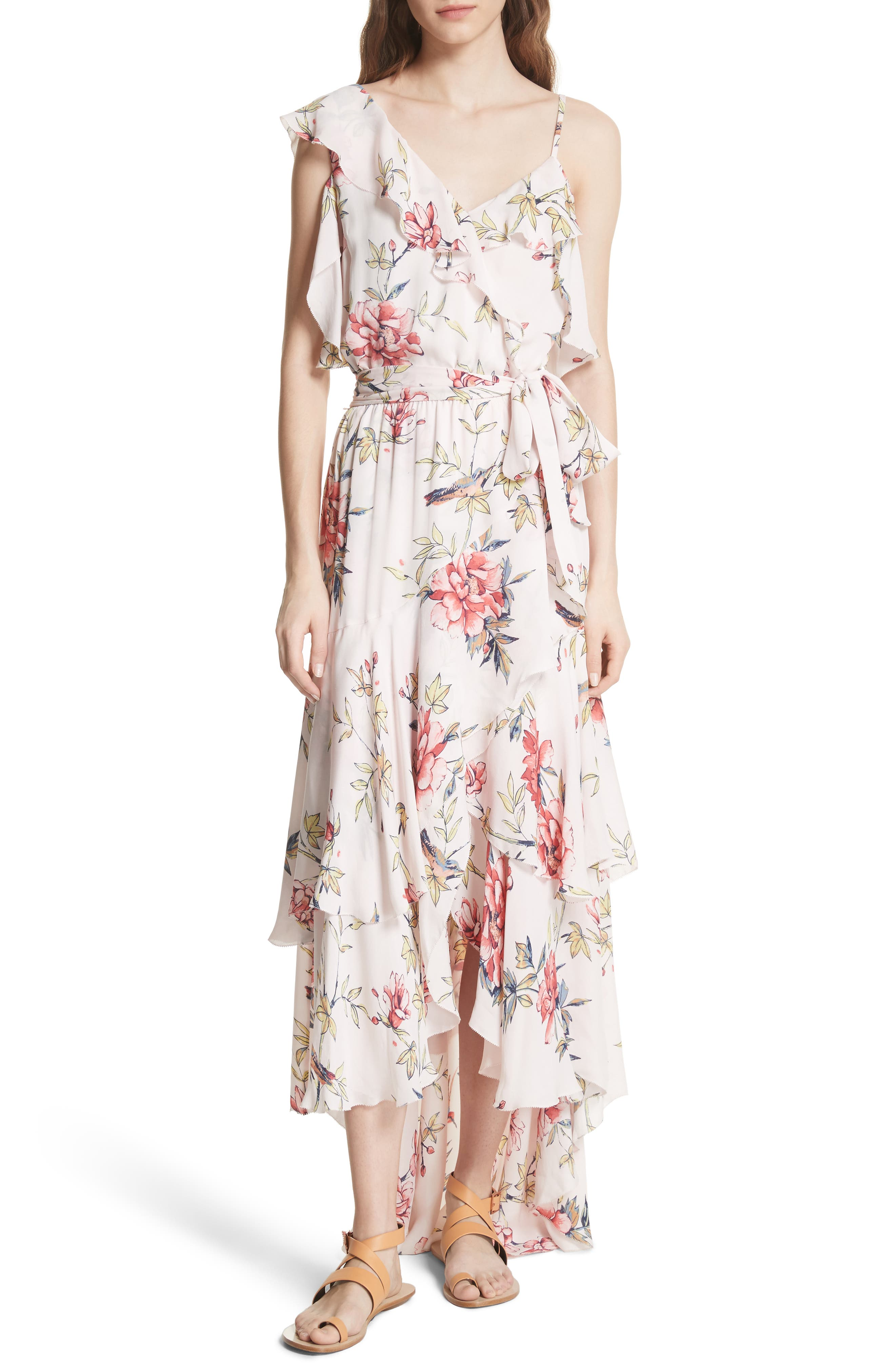 Cristeta Floral Silk Maxi Dress,                             Alternate thumbnail 5, color,                             680