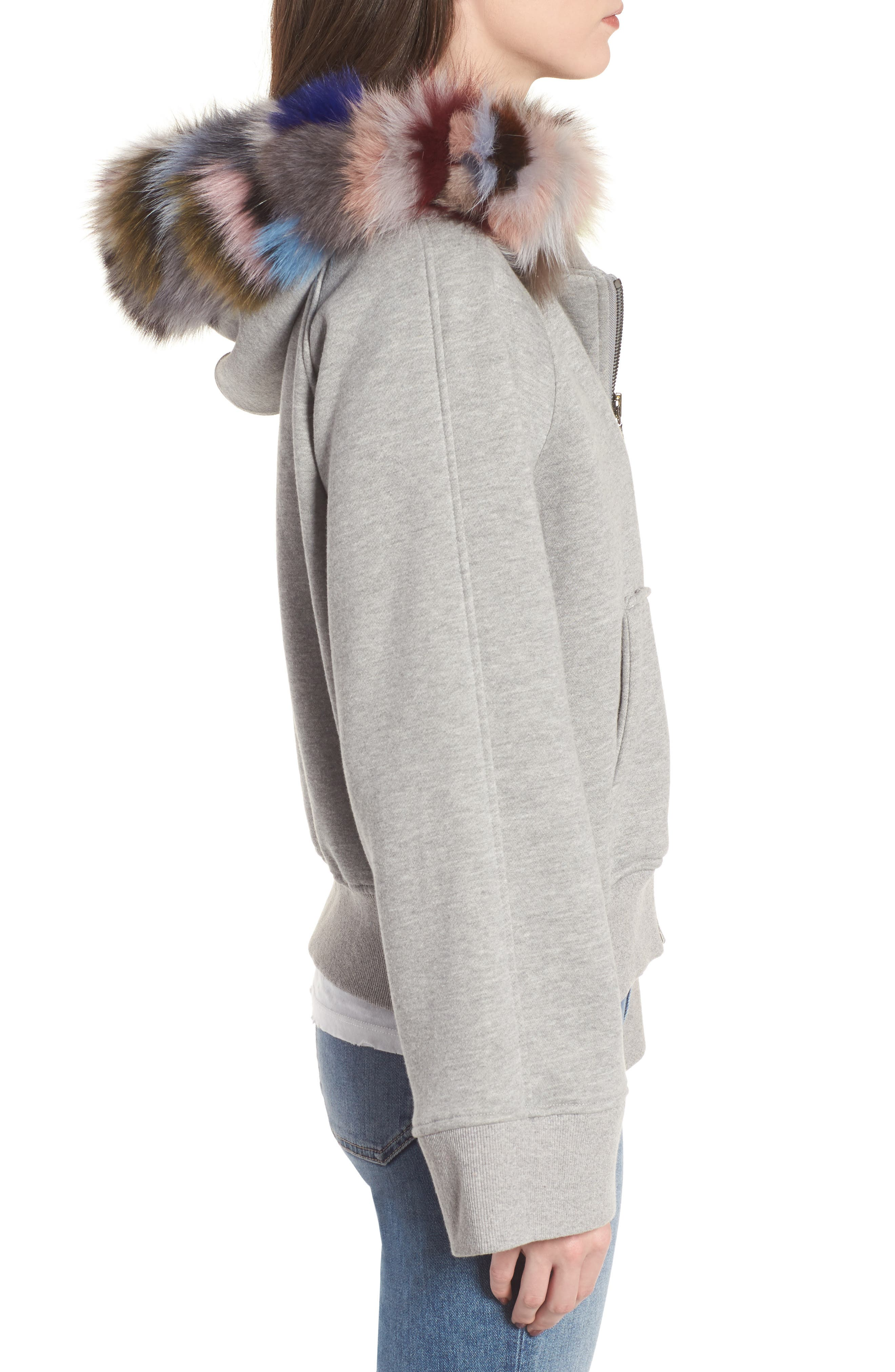 BAGATELLE.CITY The Luxe Hooded Jacket with Genuine Fox Fur Trim,                             Alternate thumbnail 7, color,