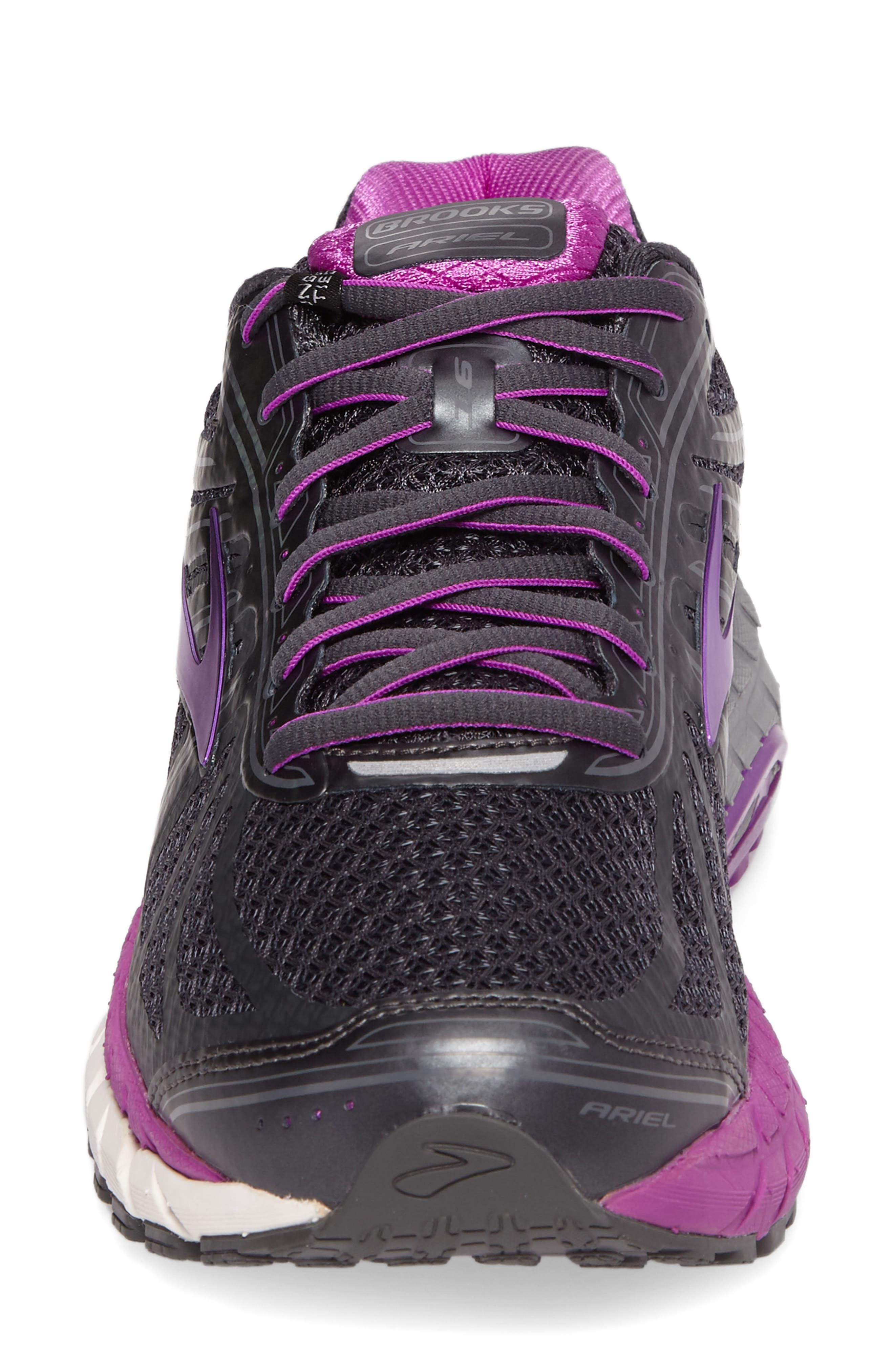 'Ariel 16' Running Shoe,                             Alternate thumbnail 4, color,                             ANTHRACITE/ PURPLE/ GREY