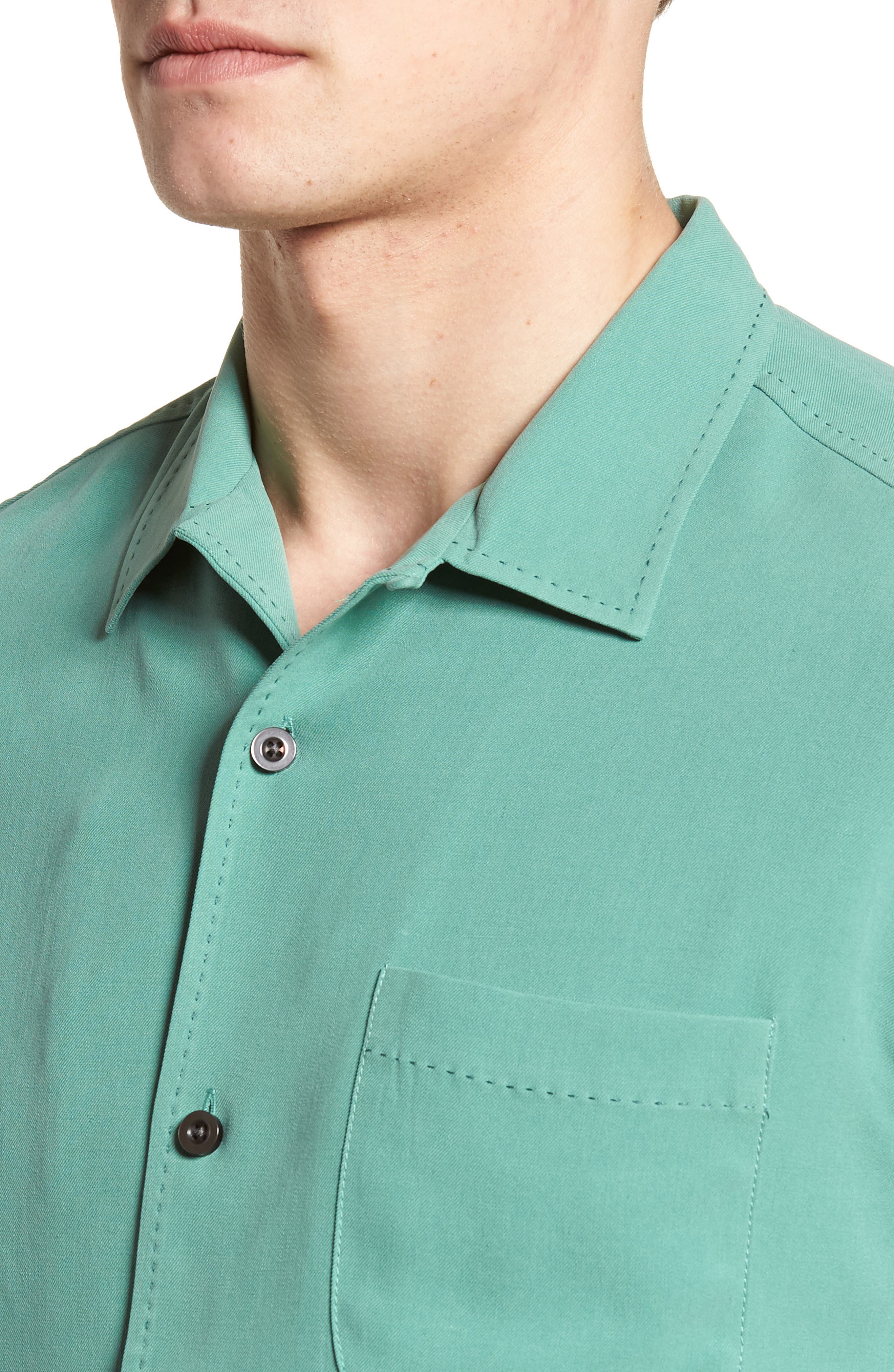 'Catalina Twill' Original Fit Silk Camp Shirt,                             Alternate thumbnail 4, color,                             306