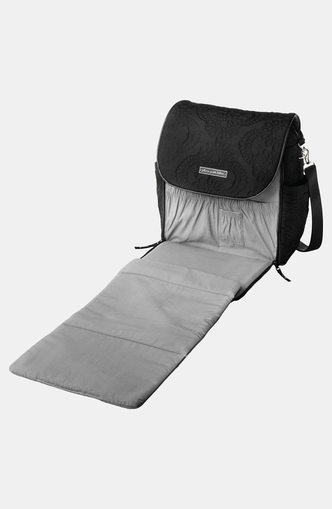 PETUNIA PICKLE BOTTOM,                             'Embossed Boxy' Magnetic Closure Backpack Diaper Bag,                             Alternate thumbnail 3, color,                             001