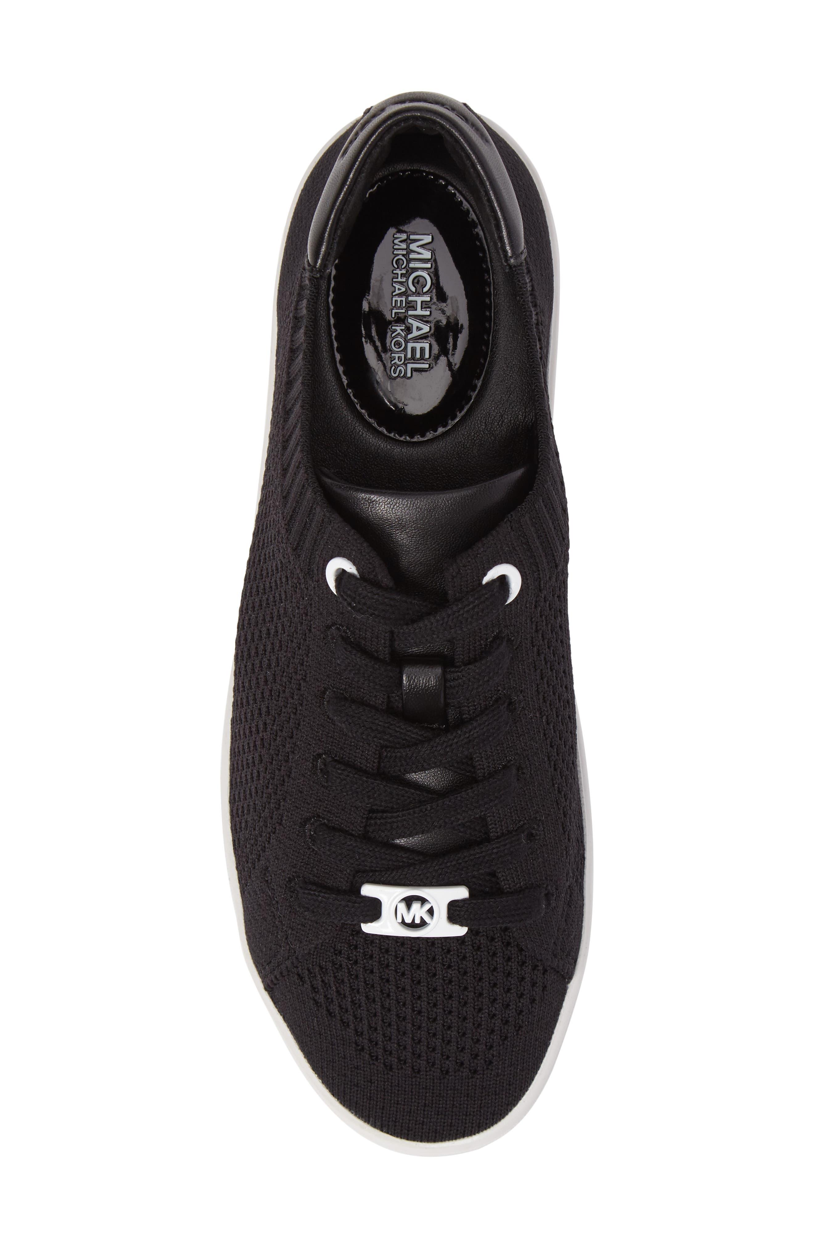 Skyler Knit Sneaker,                             Alternate thumbnail 5, color,                             001