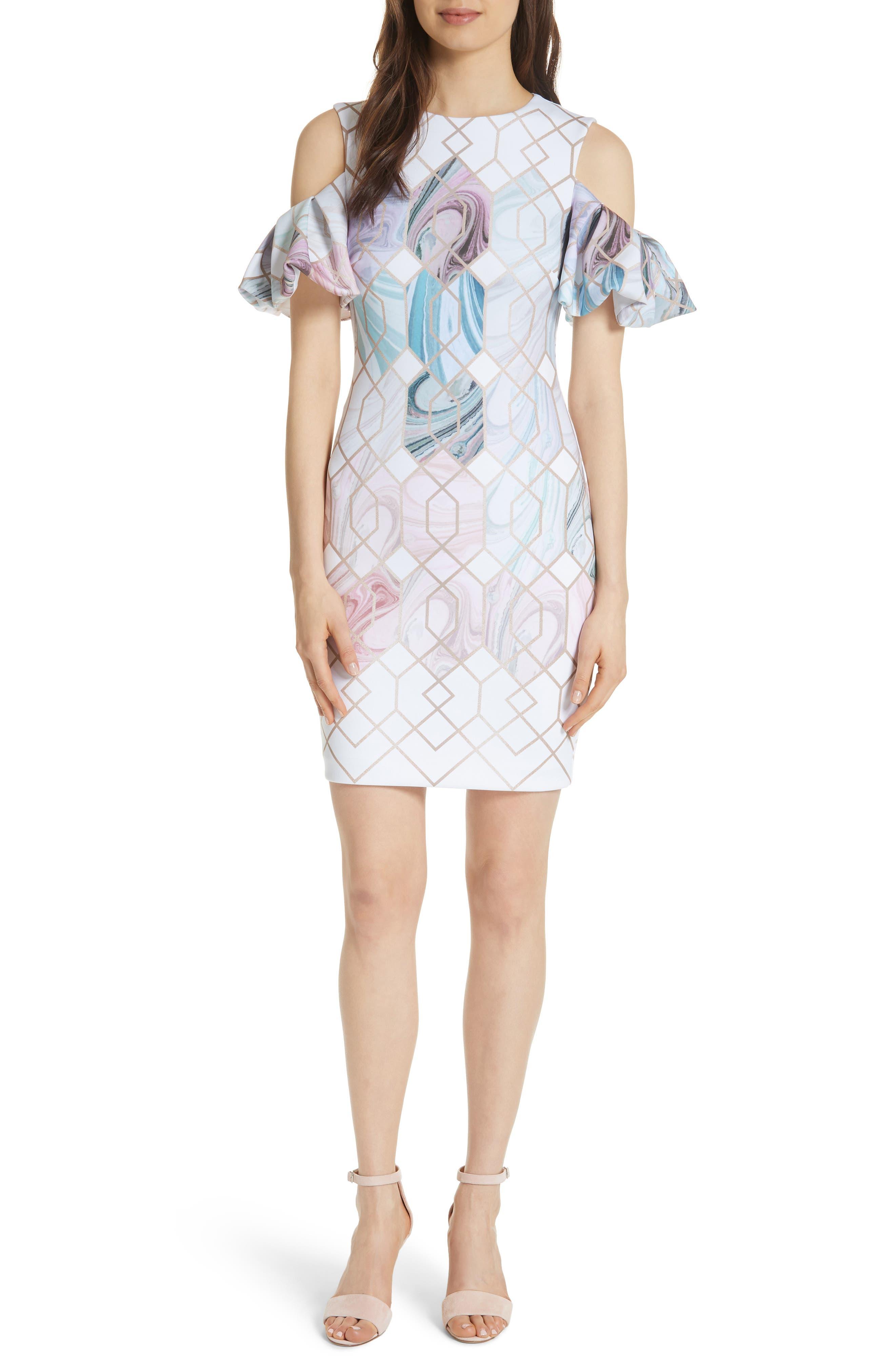 Krimba Sea of Clouds Sheath Dress,                             Main thumbnail 1, color,                             110