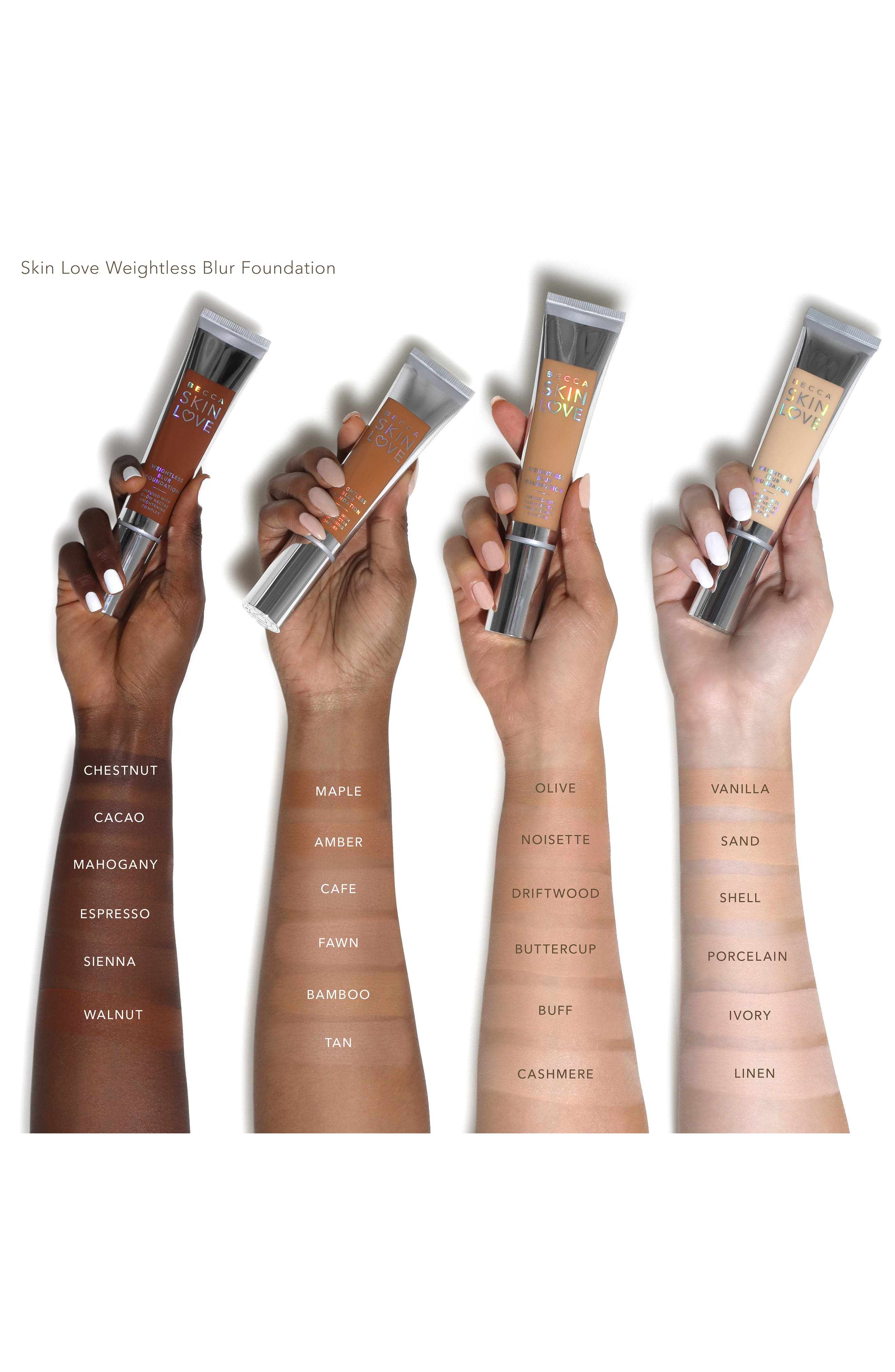 BECCA Skin Love Weightless Blur Foundation,                             Alternate thumbnail 5, color,                             CAFE