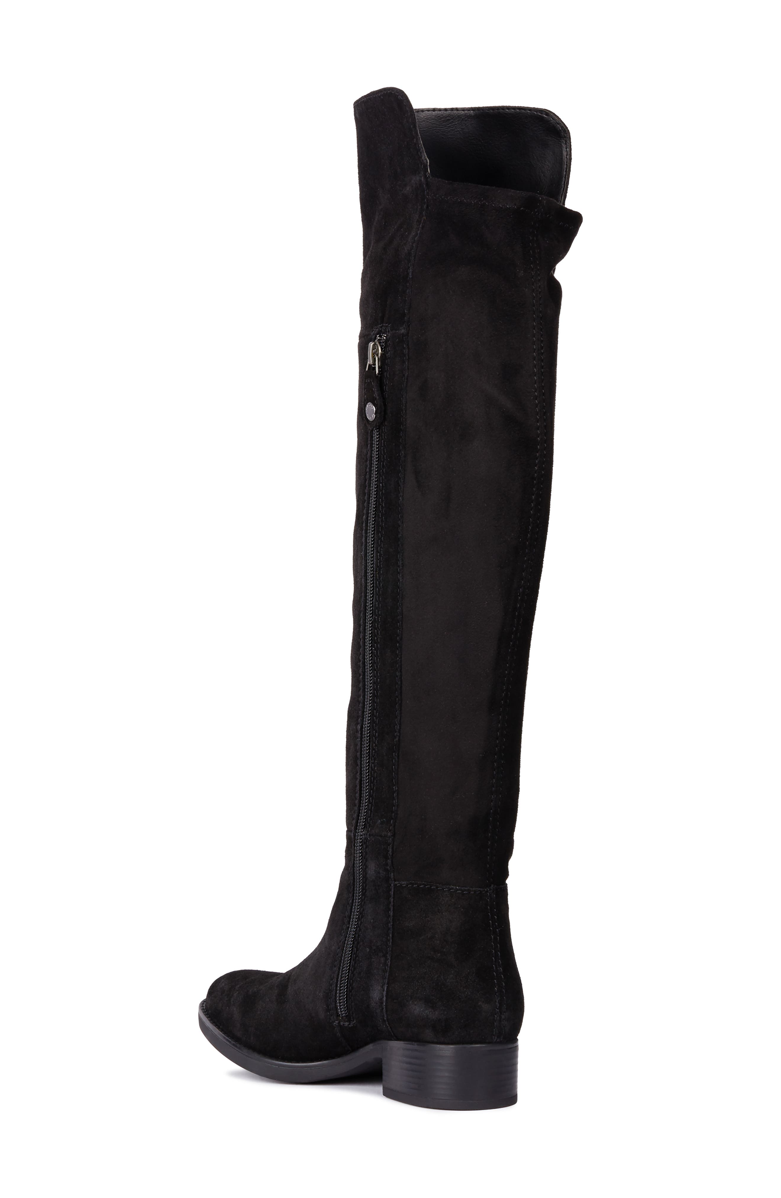 Felicity Knee High Boot,                             Alternate thumbnail 2, color,                             BLACK SUEDE