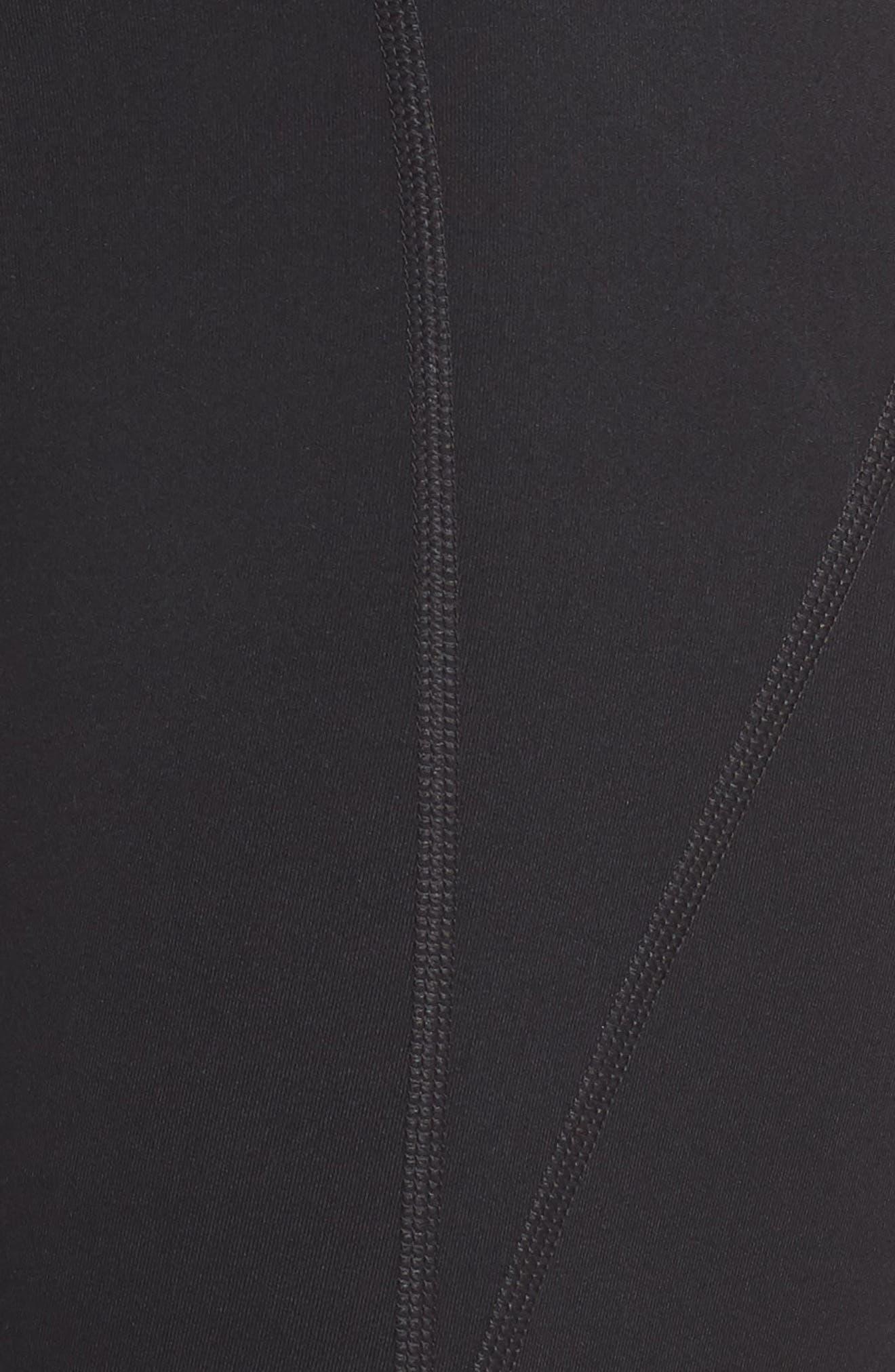 GIRLFRIEND COLLECTIVE, High Waist Full Length Leggings, Alternate thumbnail 6, color, BLACK