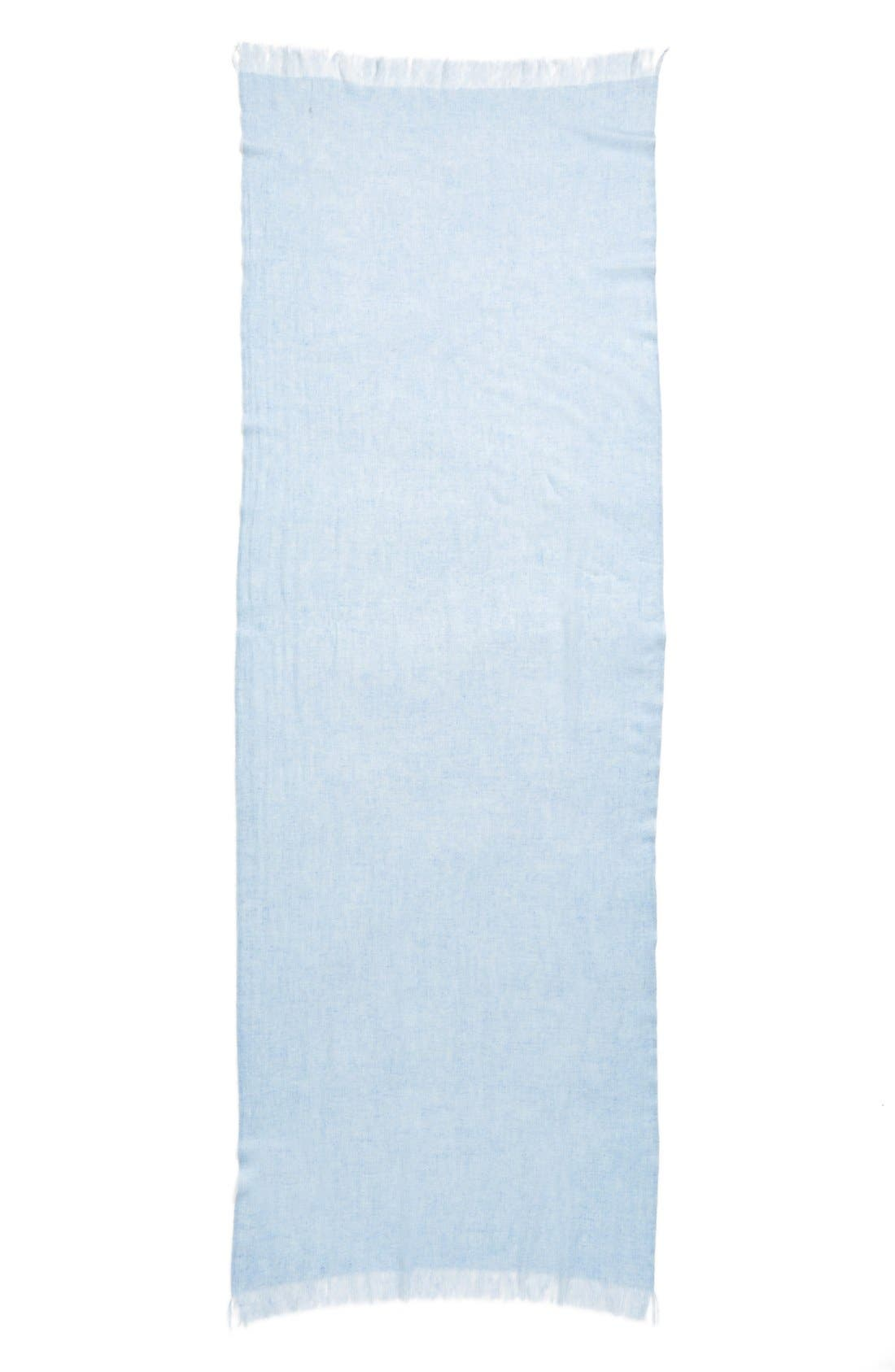Caslon<sup>®</sup> Heathered Cashmere Gauze Scarf,                             Alternate thumbnail 18, color,