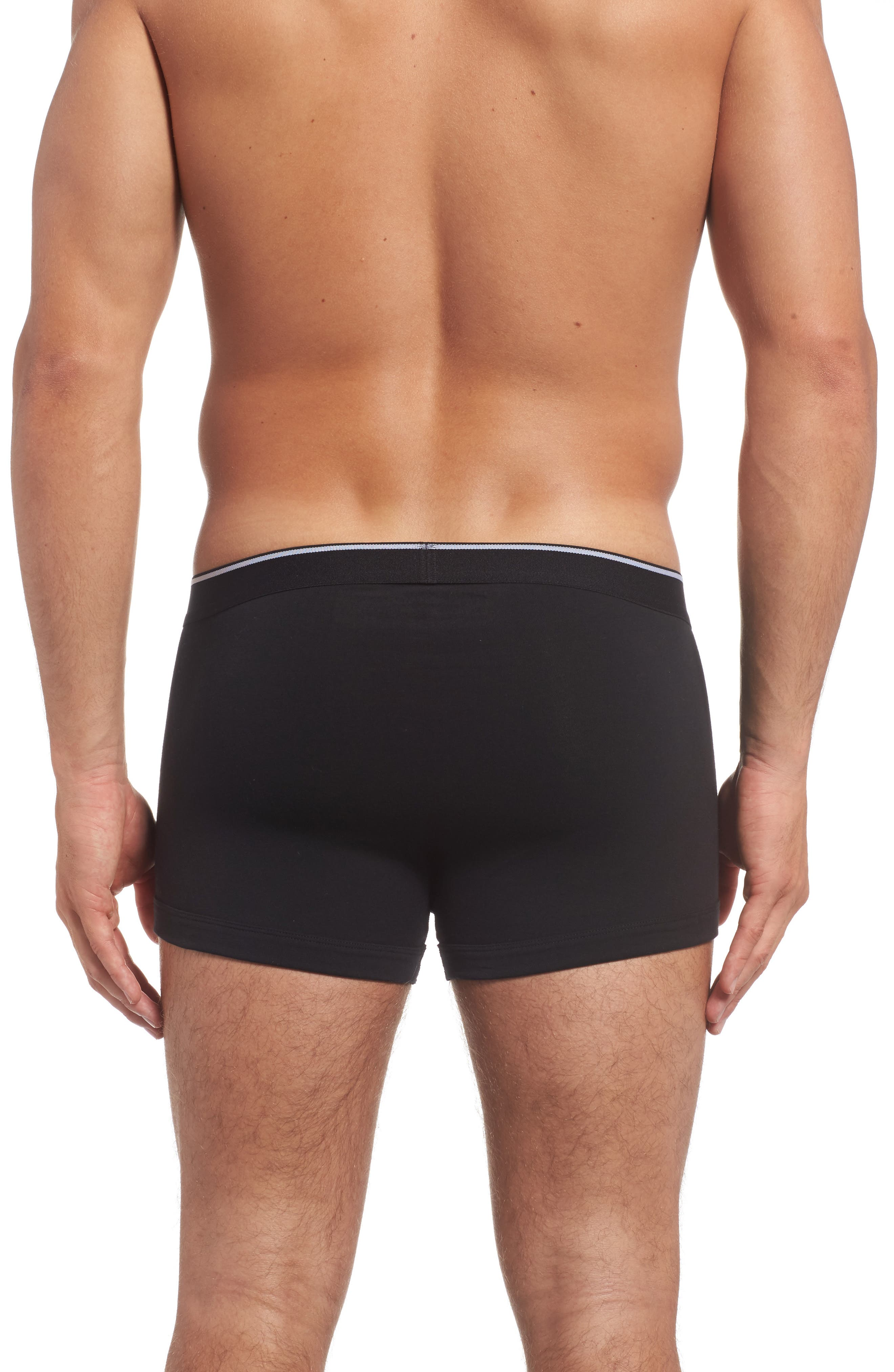 3-Pack Stretch Cotton Trunks,                             Alternate thumbnail 3, color,                             001