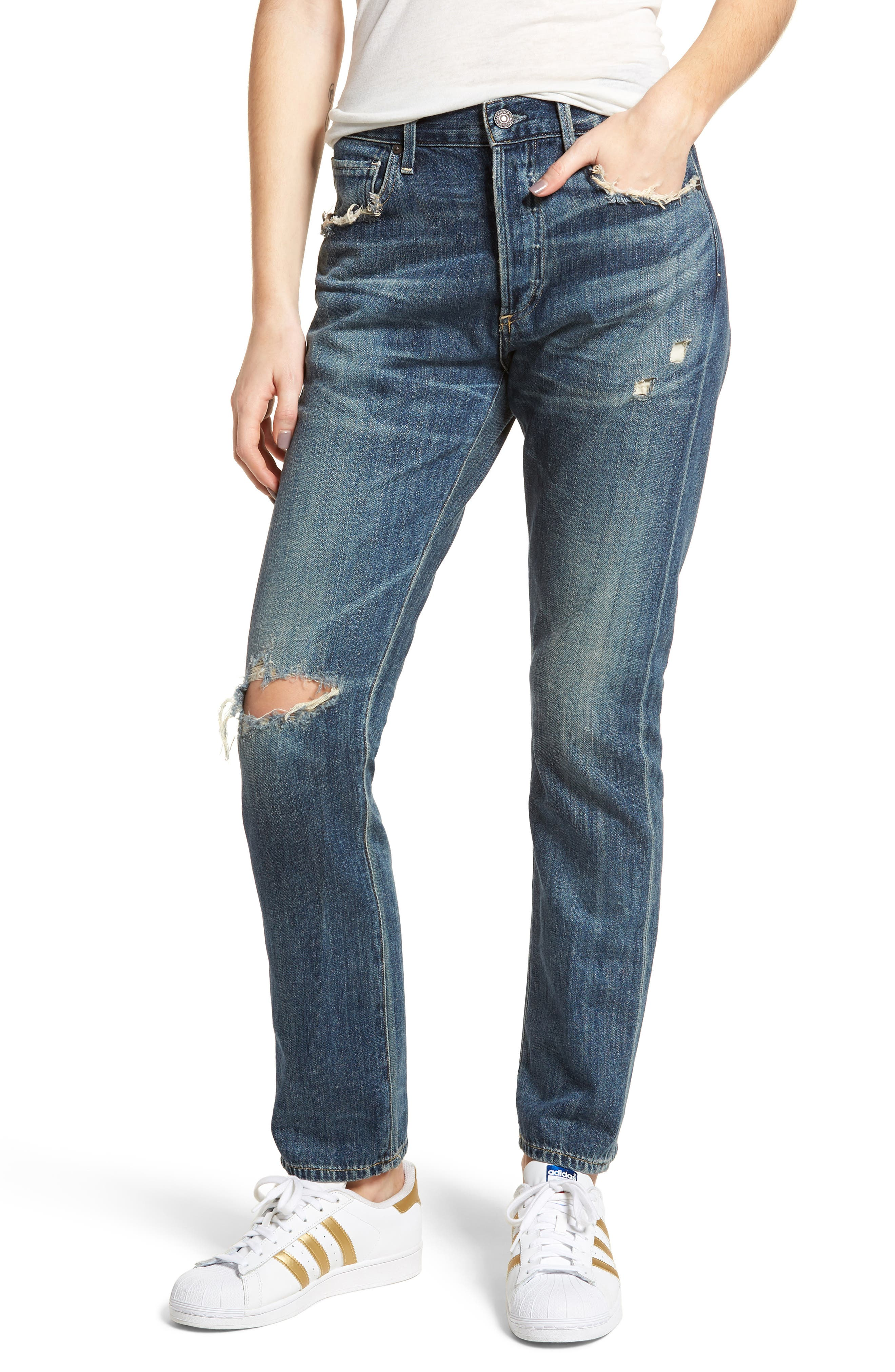 Corey Ripped Slouchy Slim Jeans,                             Main thumbnail 1, color,