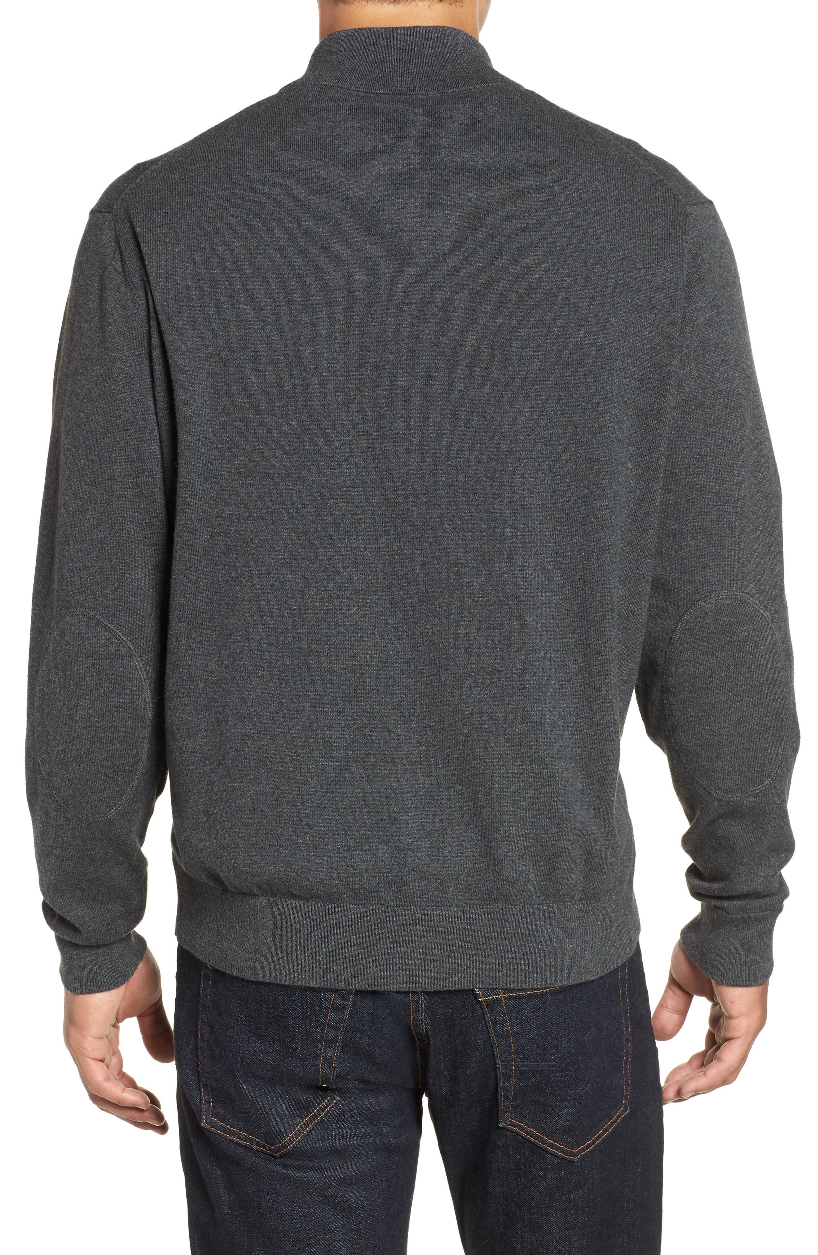 Los Angeles Rams - Lakemont Regular Fit Quarter Zip Sweater,                             Alternate thumbnail 2, color,                             CHARCOAL HEATHER