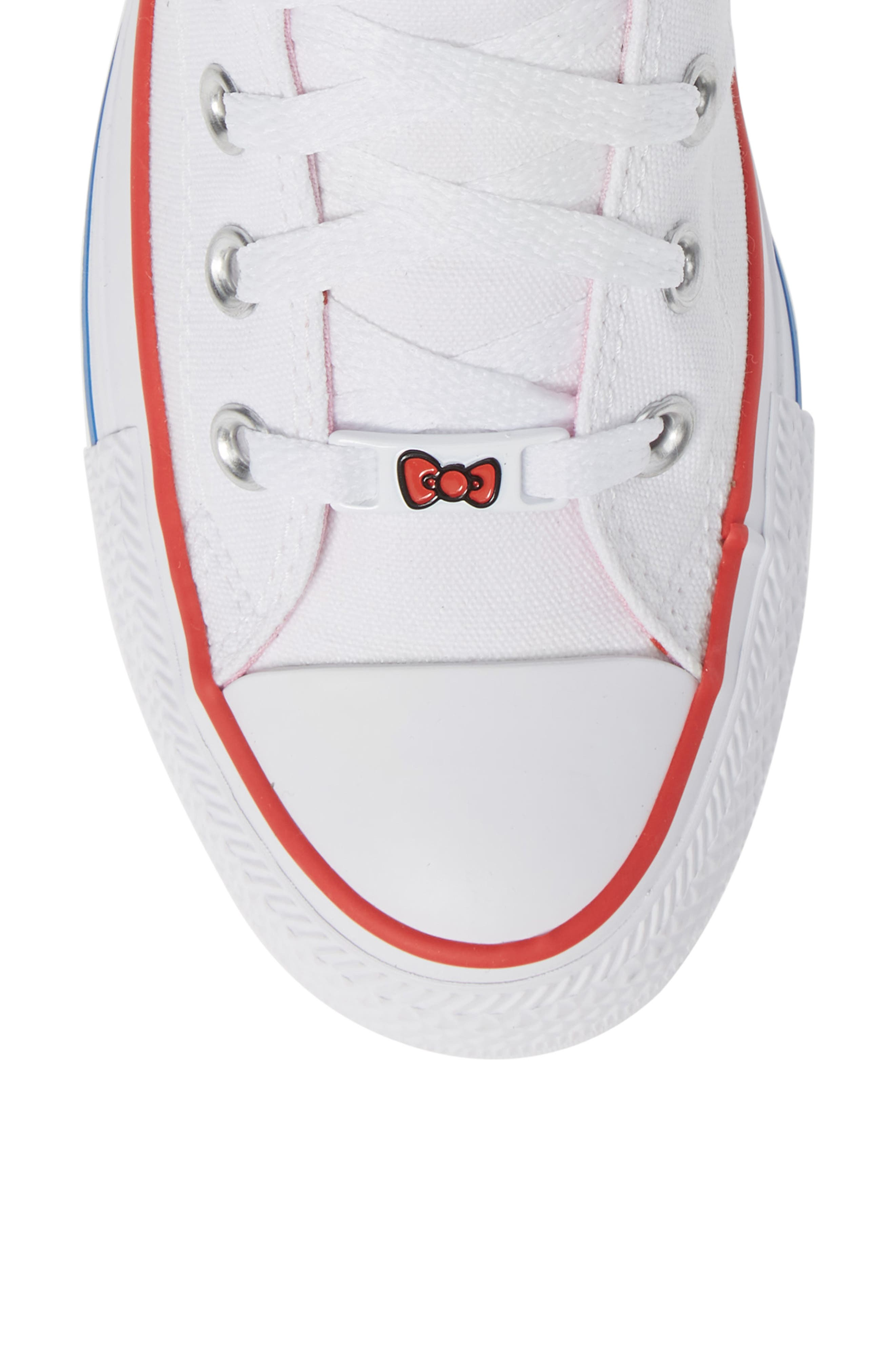 Chuck Taylor<sup>®</sup> All Star<sup>®</sup> Hello Kitty High Top Sneaker,                             Alternate thumbnail 5, color,                             102