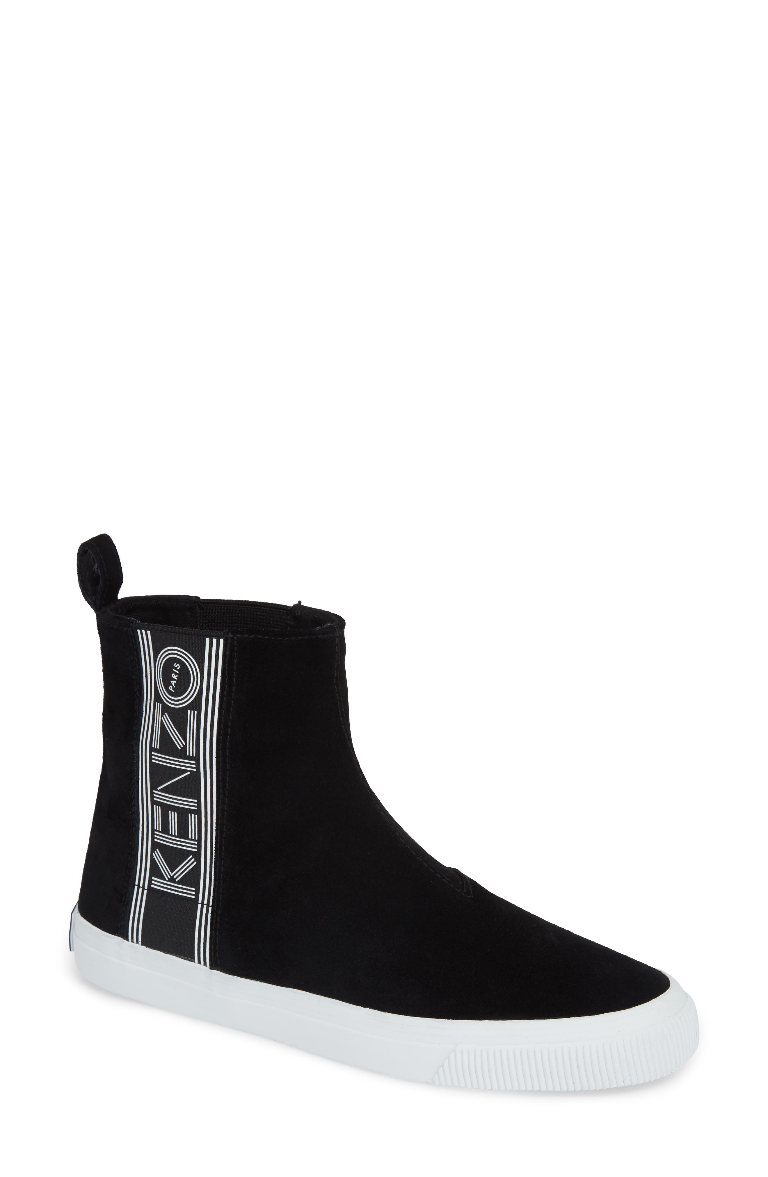 Kapri High Top Sneaker,                             Main thumbnail 1, color,                             BLACK