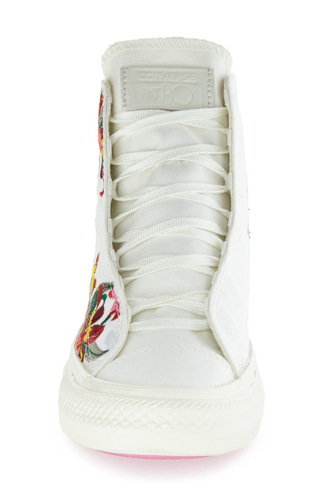 Chuck Taylor<sup>®</sup> All Star<sup>®</sup> 'Patbo' Floral High Top Sneaker,                             Alternate thumbnail 4, color,                             100