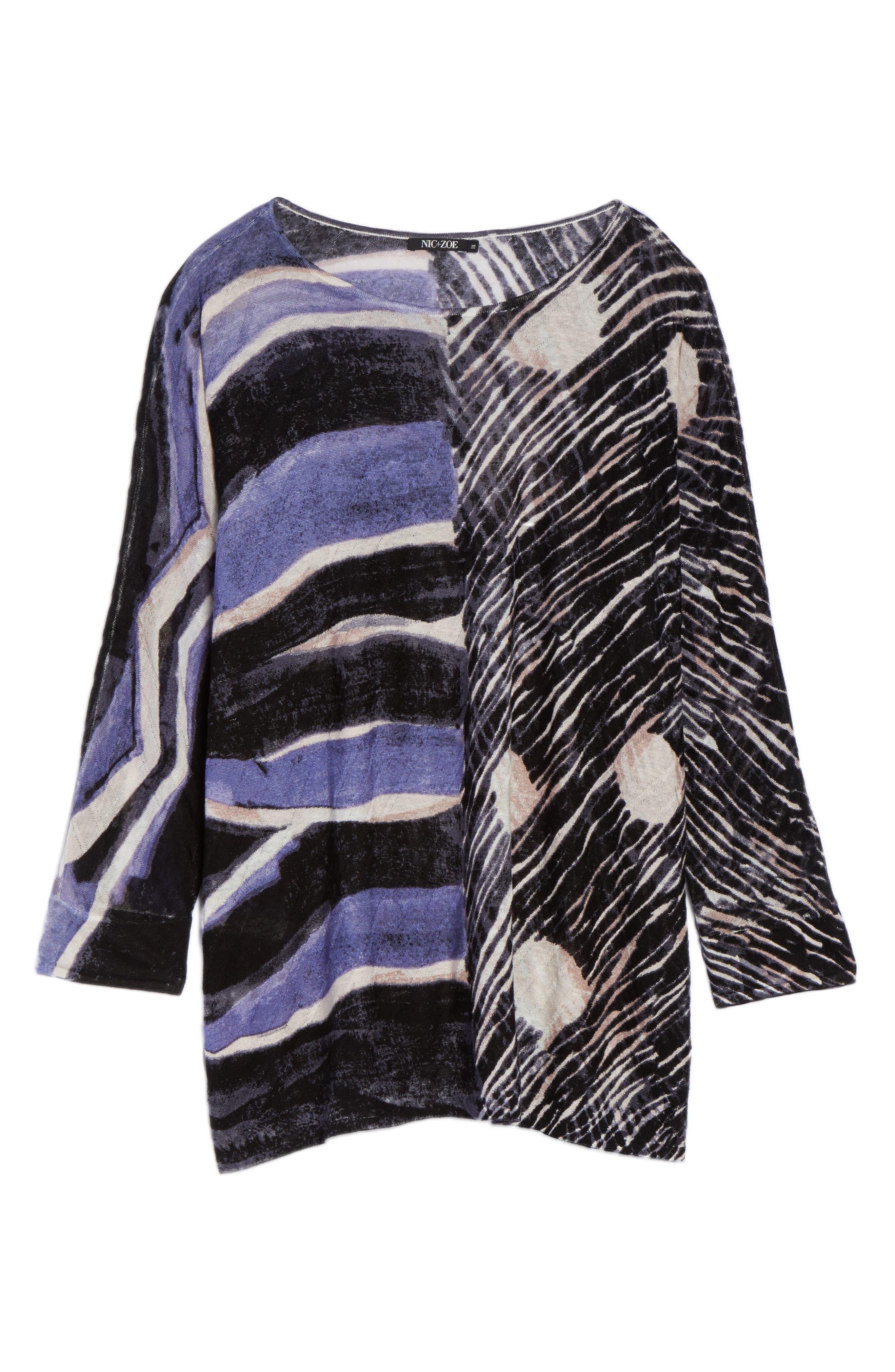 Sierra Sweater,                             Alternate thumbnail 6, color,                             BLUE MULTI