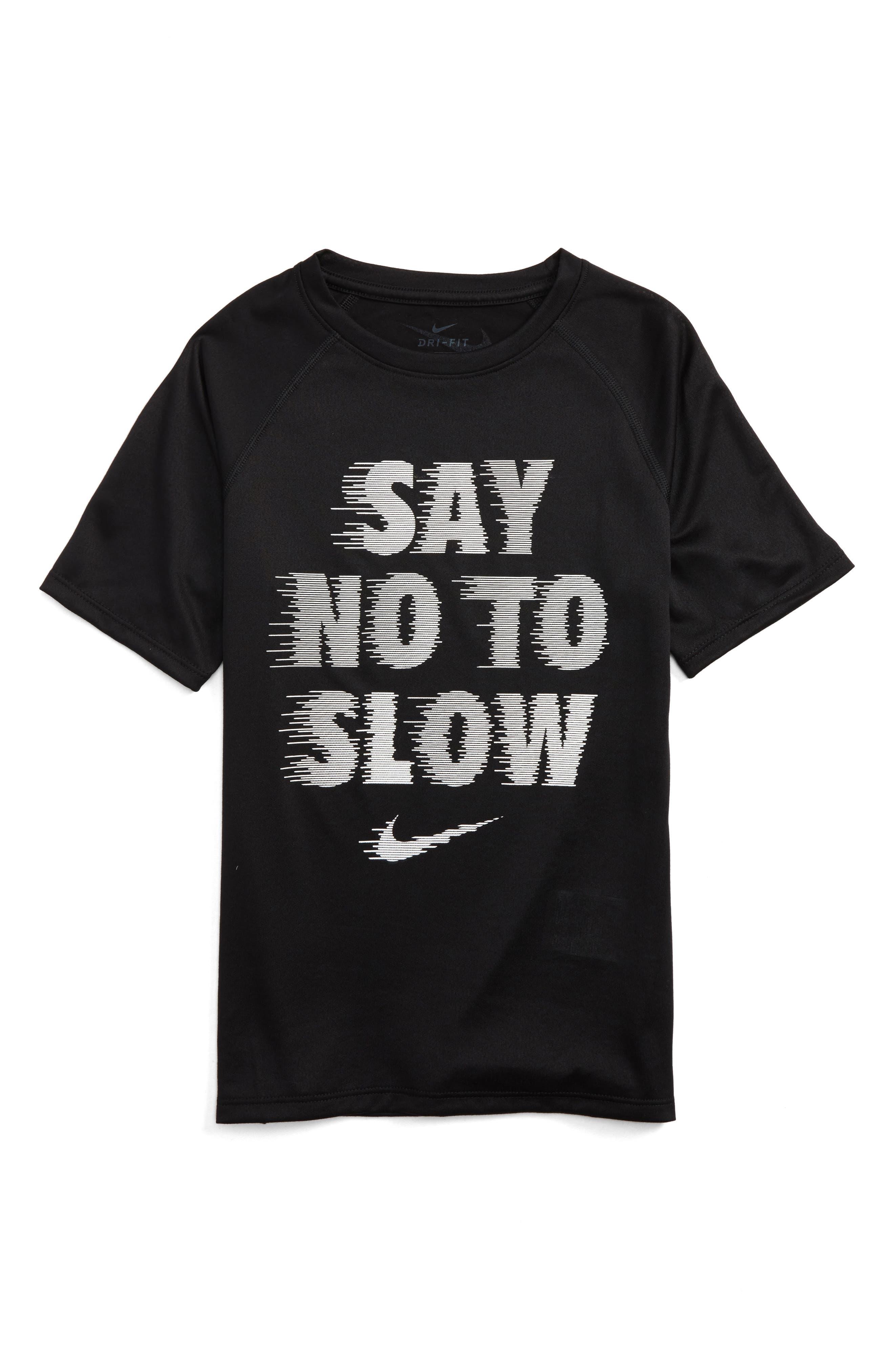 Dry Say No to Slow Graphic T-Shirt,                             Main thumbnail 1, color,                             010