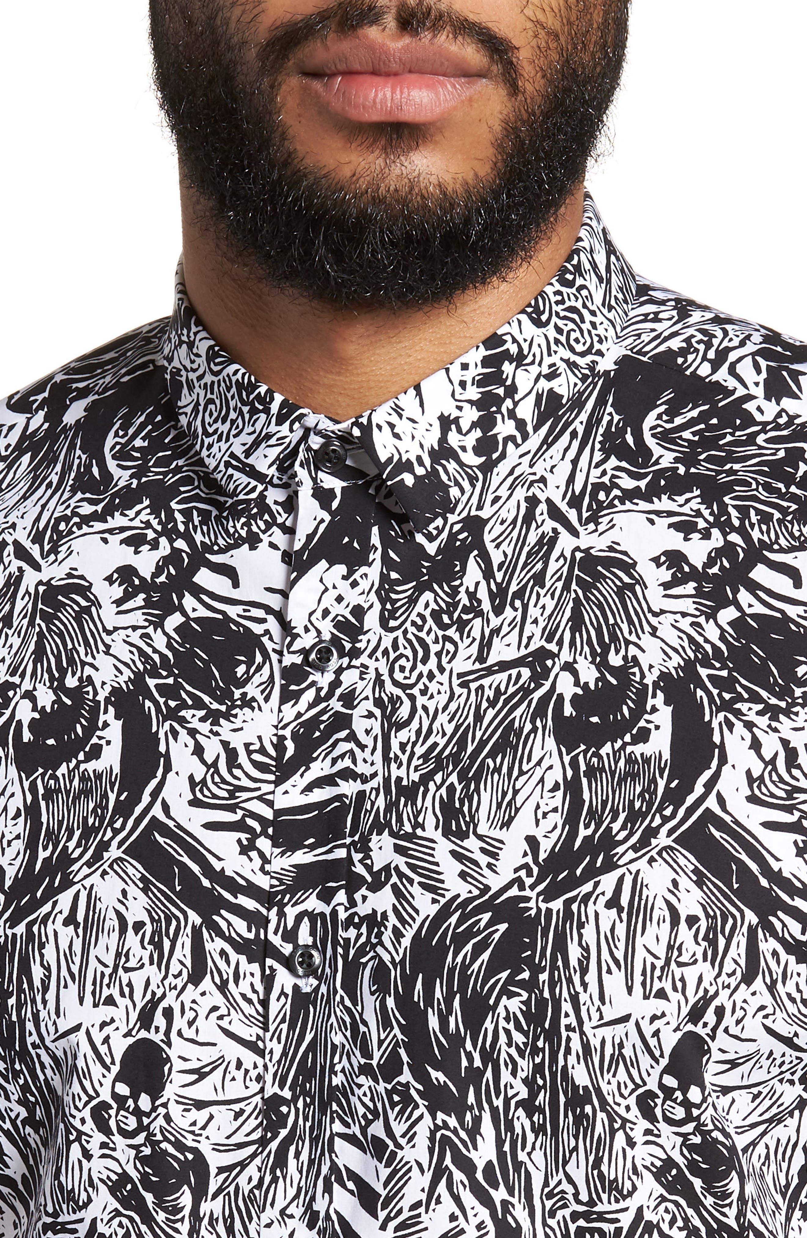 Empson Trim Fit Print Short Sleeve Sport Shirt,                             Alternate thumbnail 7, color,