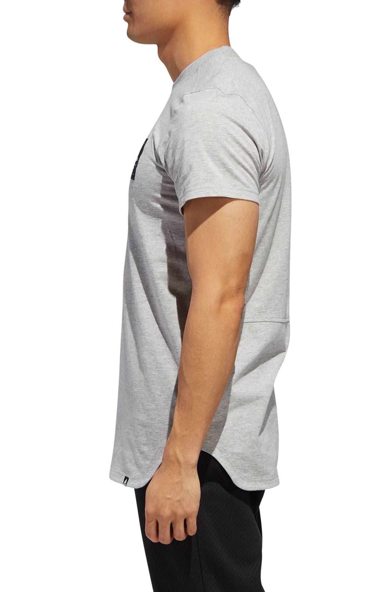 Scoop International T-Shirt,                             Alternate thumbnail 3, color,                             MEDIUM GREY HEATHER