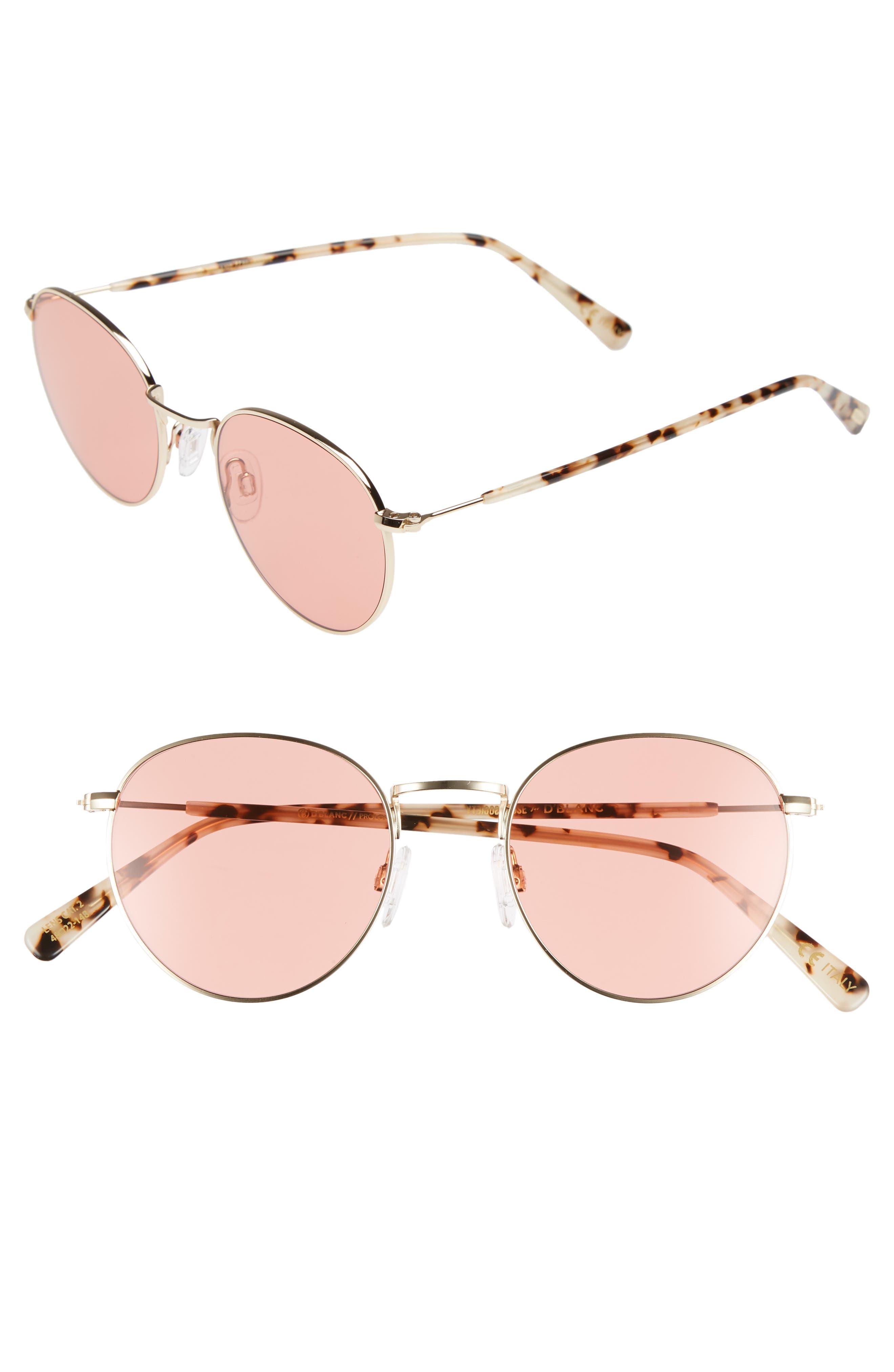 D'BLANC Prologue 48mm Sunglasses,                             Main thumbnail 1, color,                             710
