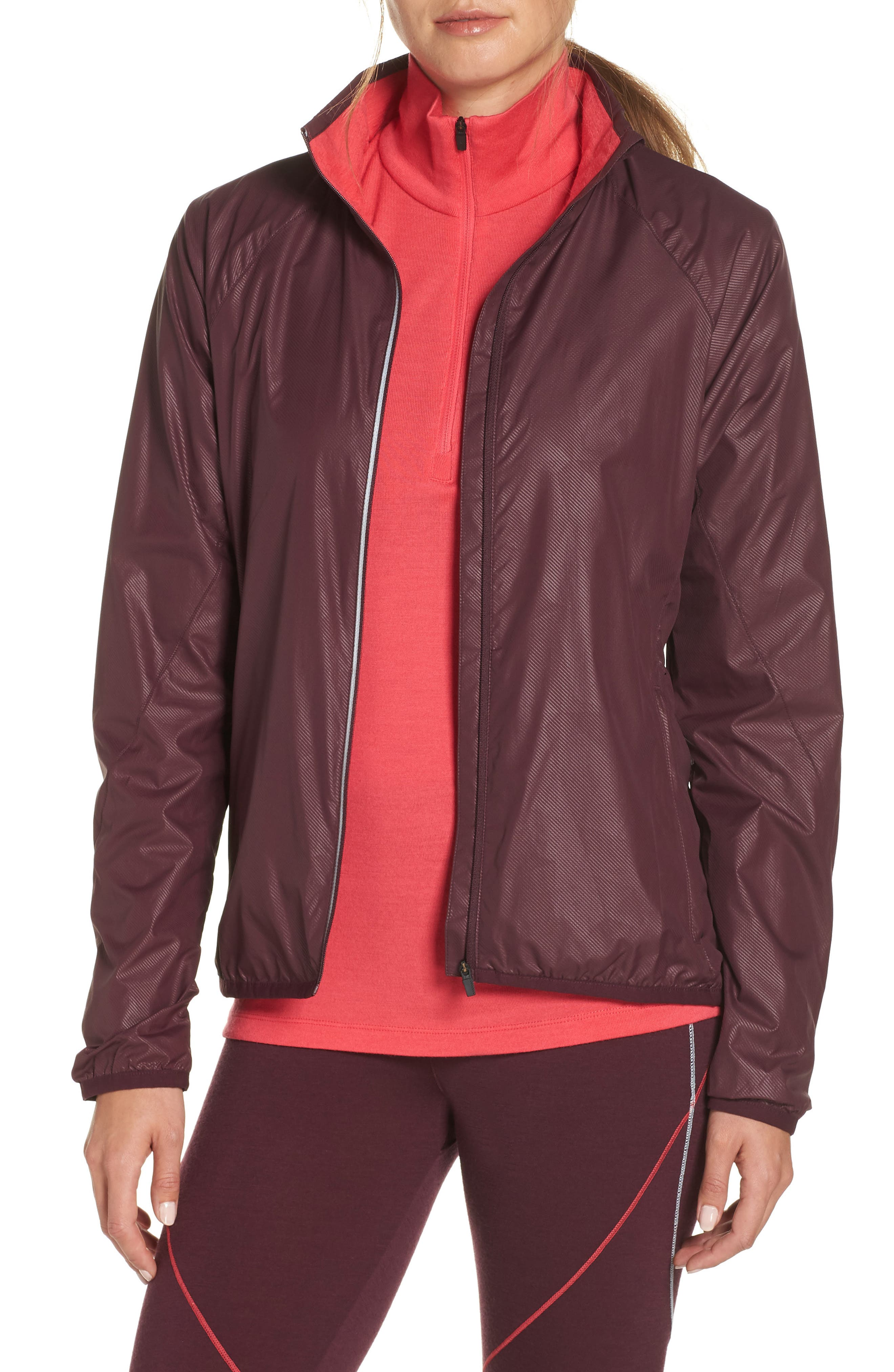 Cool-Lite<sup>™</sup> Rush Windbreaker Jacket,                         Main,                         color, VELVET/ PRISM