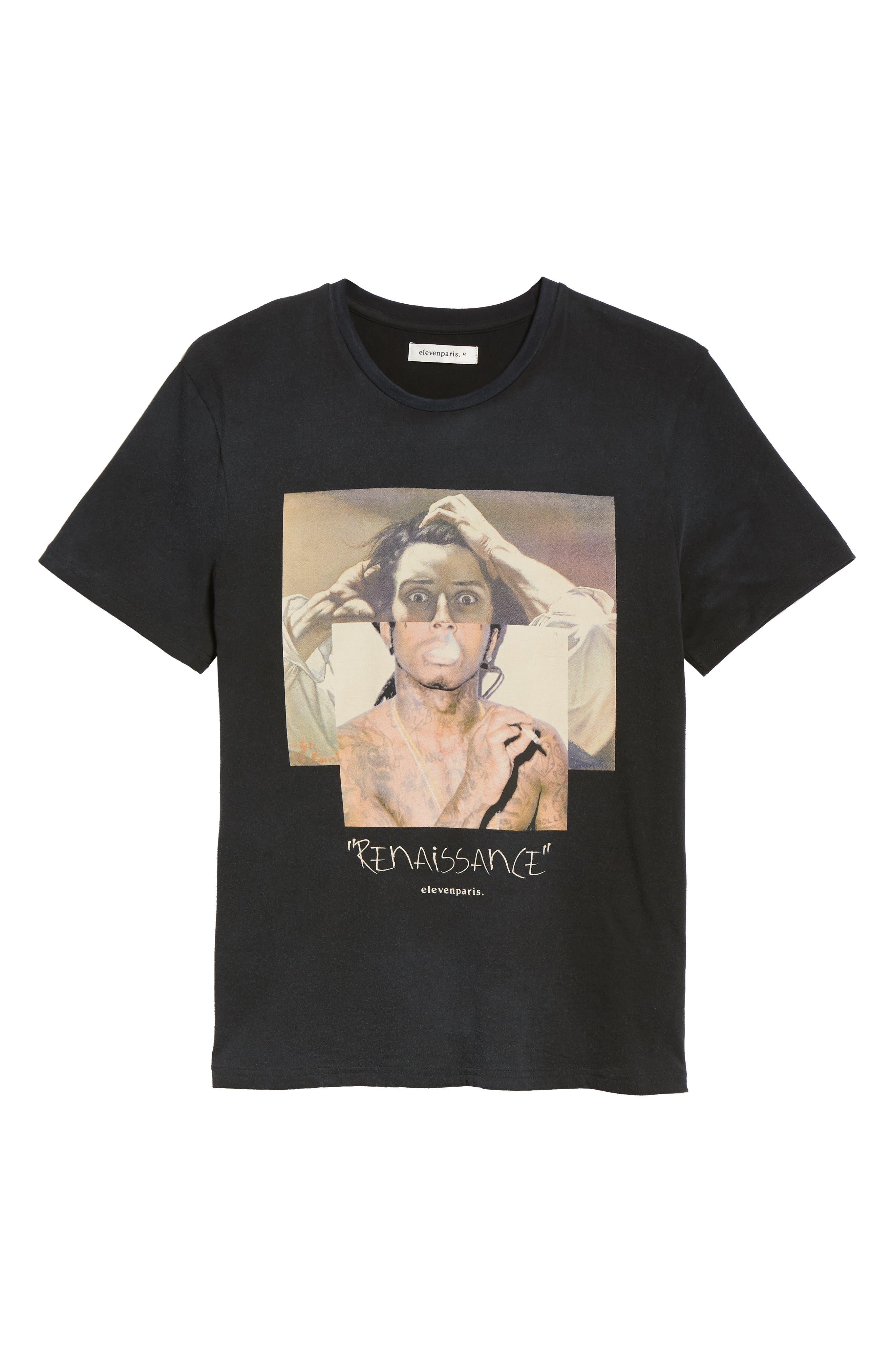 ELEVENPARIS,                             Renaissance Graphic T-Shirt,                             Alternate thumbnail 6, color,                             002