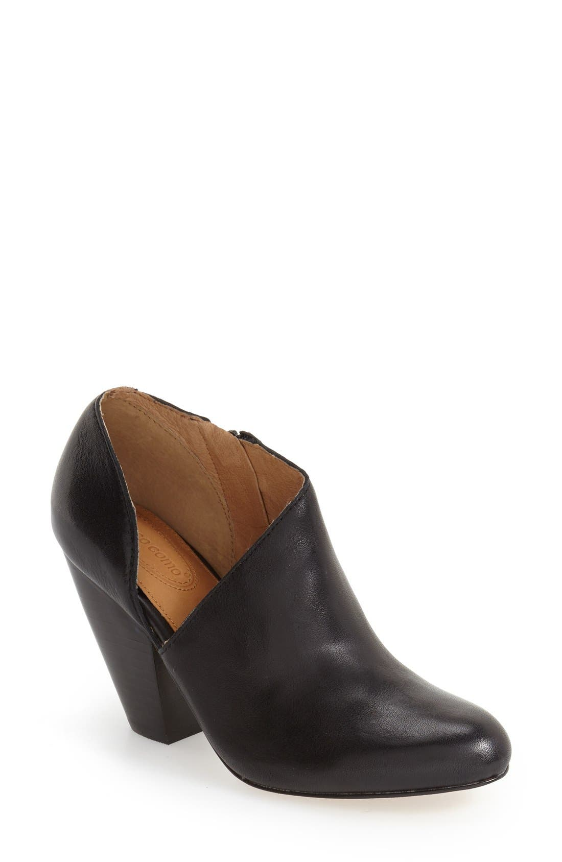 'Yonkers' Almond Toe Cutout Bootie,                             Main thumbnail 1, color,                             004