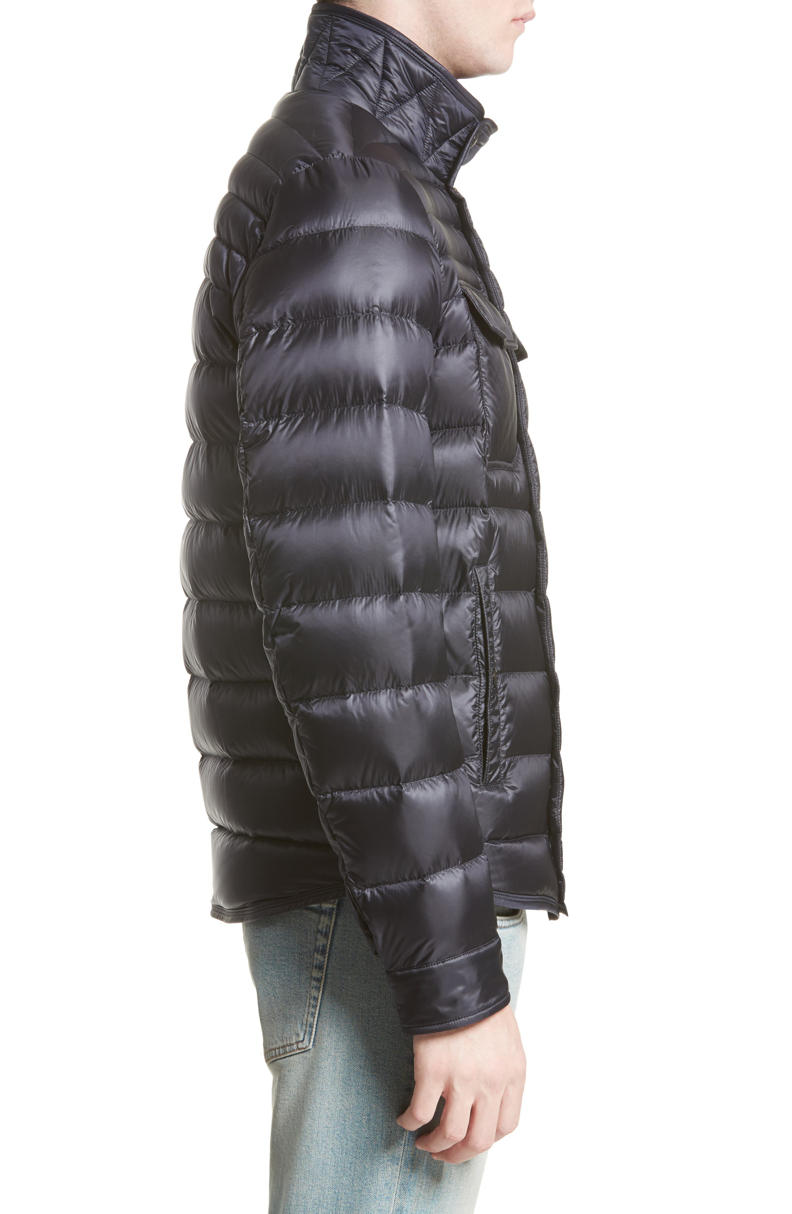 Forbin Stand Collar Quilted Down Jacket,                             Alternate thumbnail 3, color,                             419