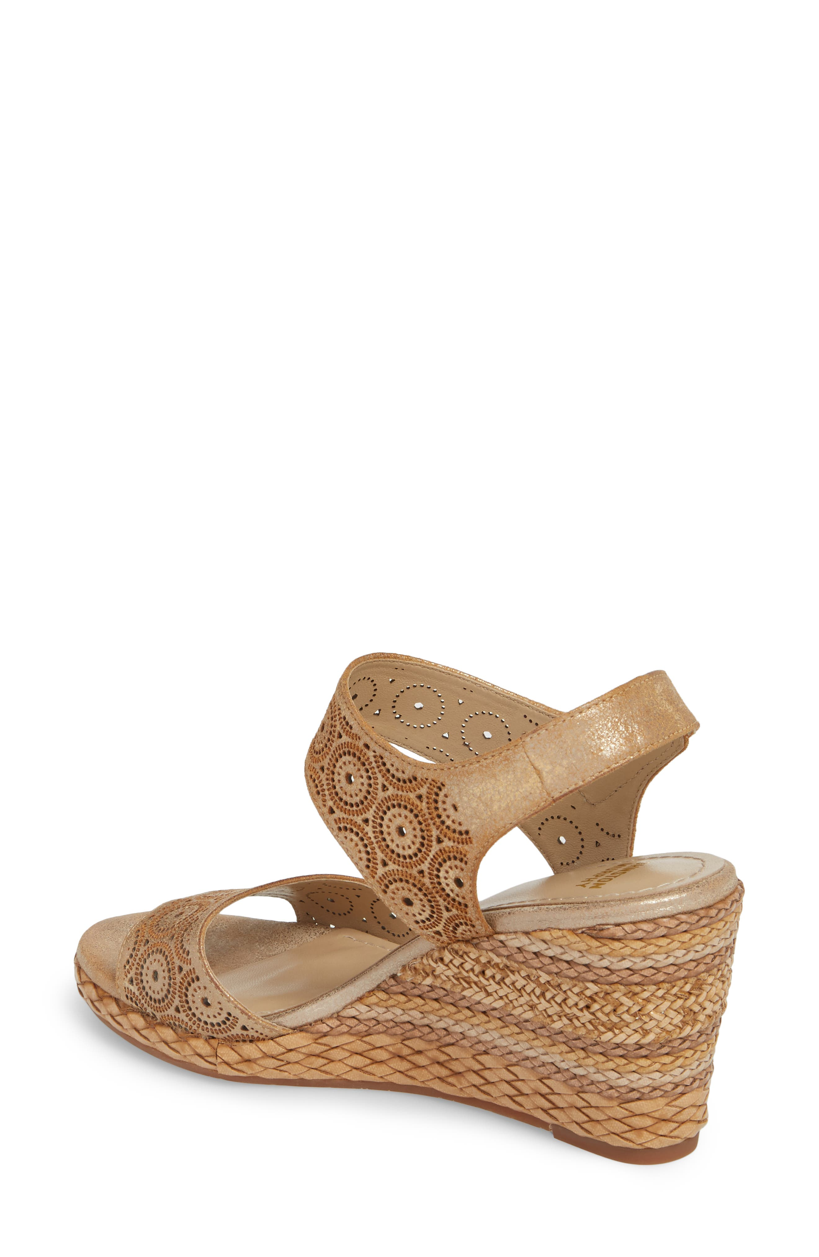 Georgiana Wedge Sandal,                             Alternate thumbnail 4, color,