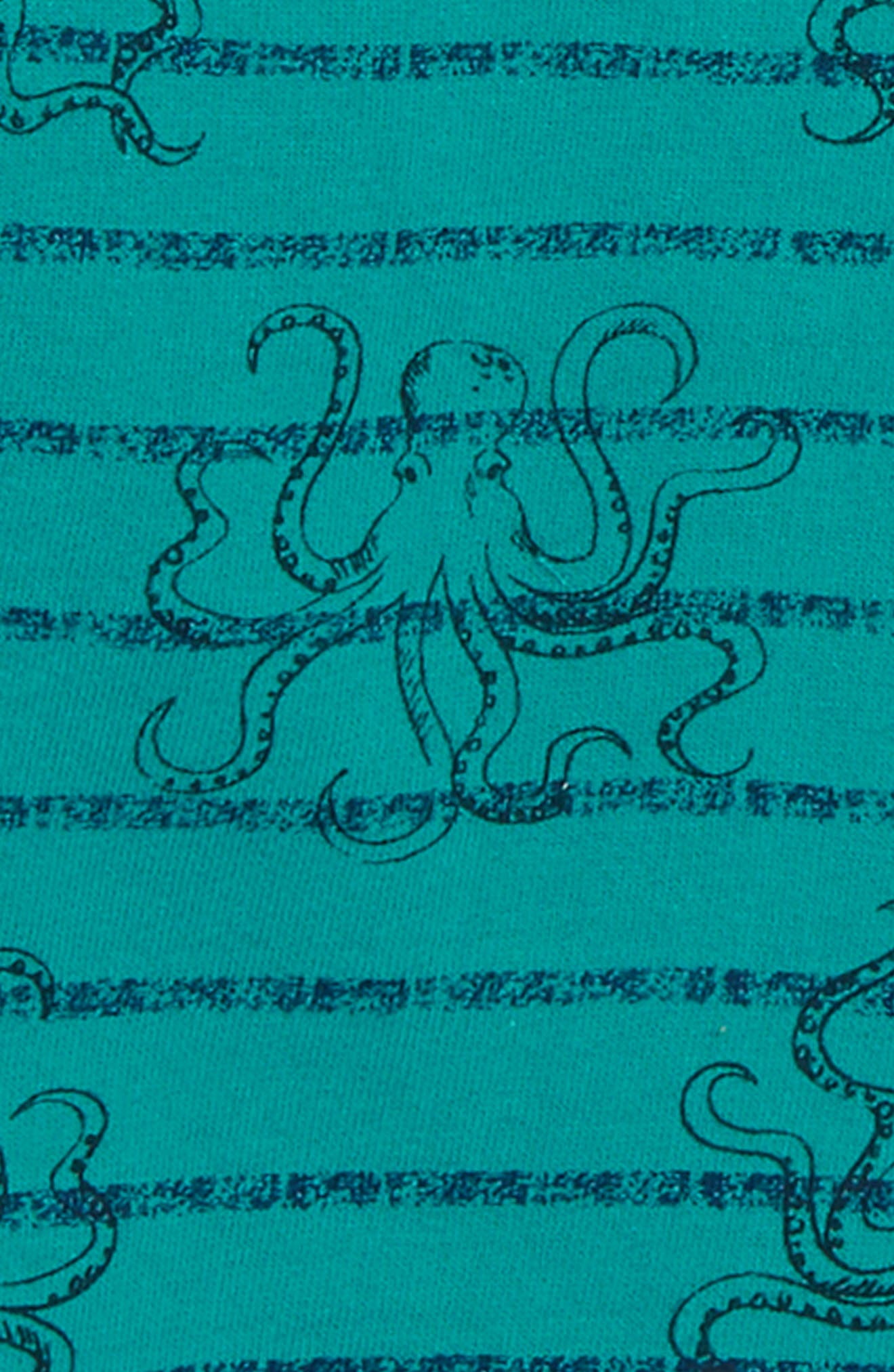 PEEK AREN'T YOU CURIOUS,                             Octopus Crewneck Pullover,                             Alternate thumbnail 2, color,                             GREEN