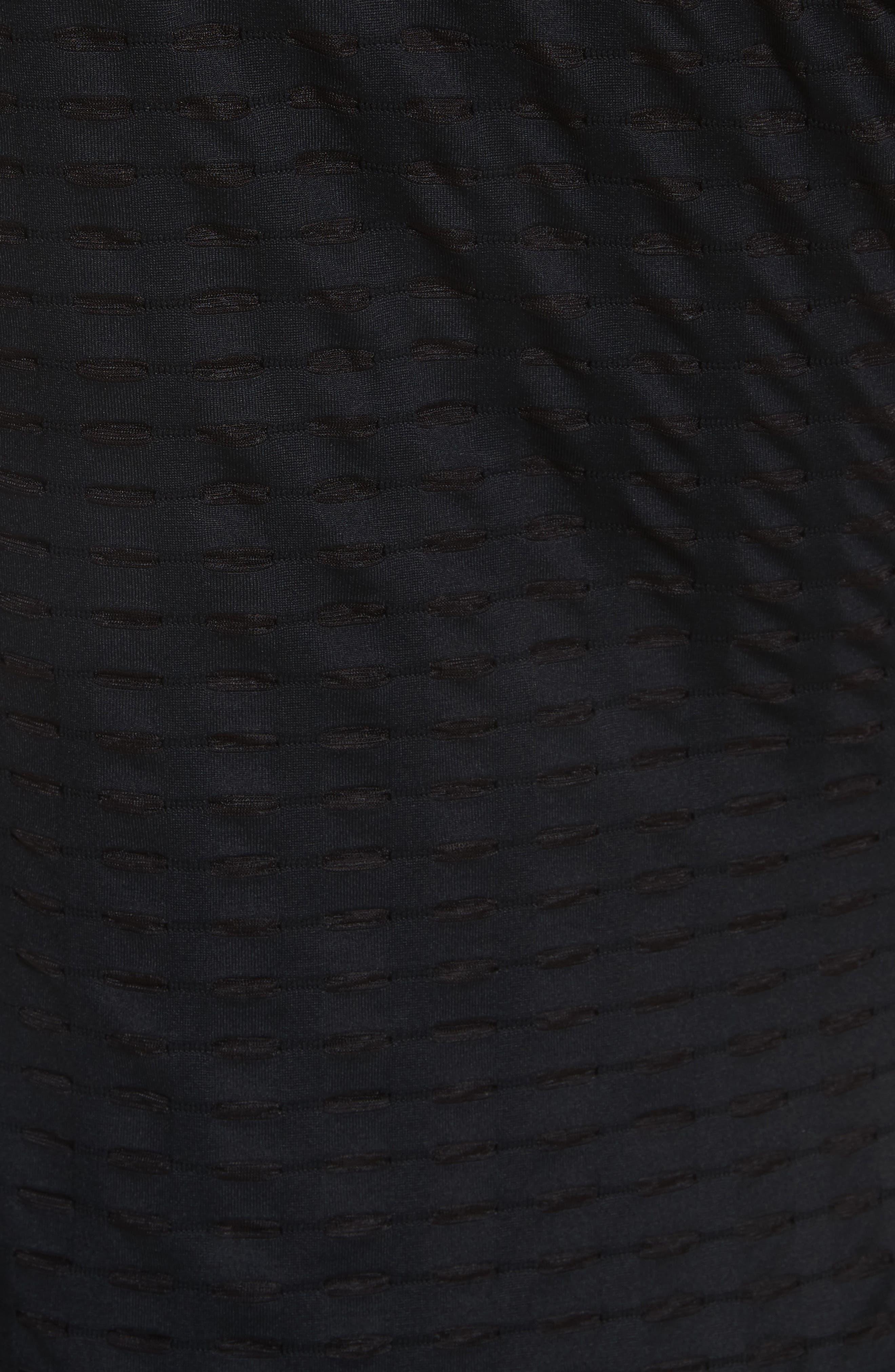 One-Shoulder Minidress,                             Alternate thumbnail 5, color,                             001