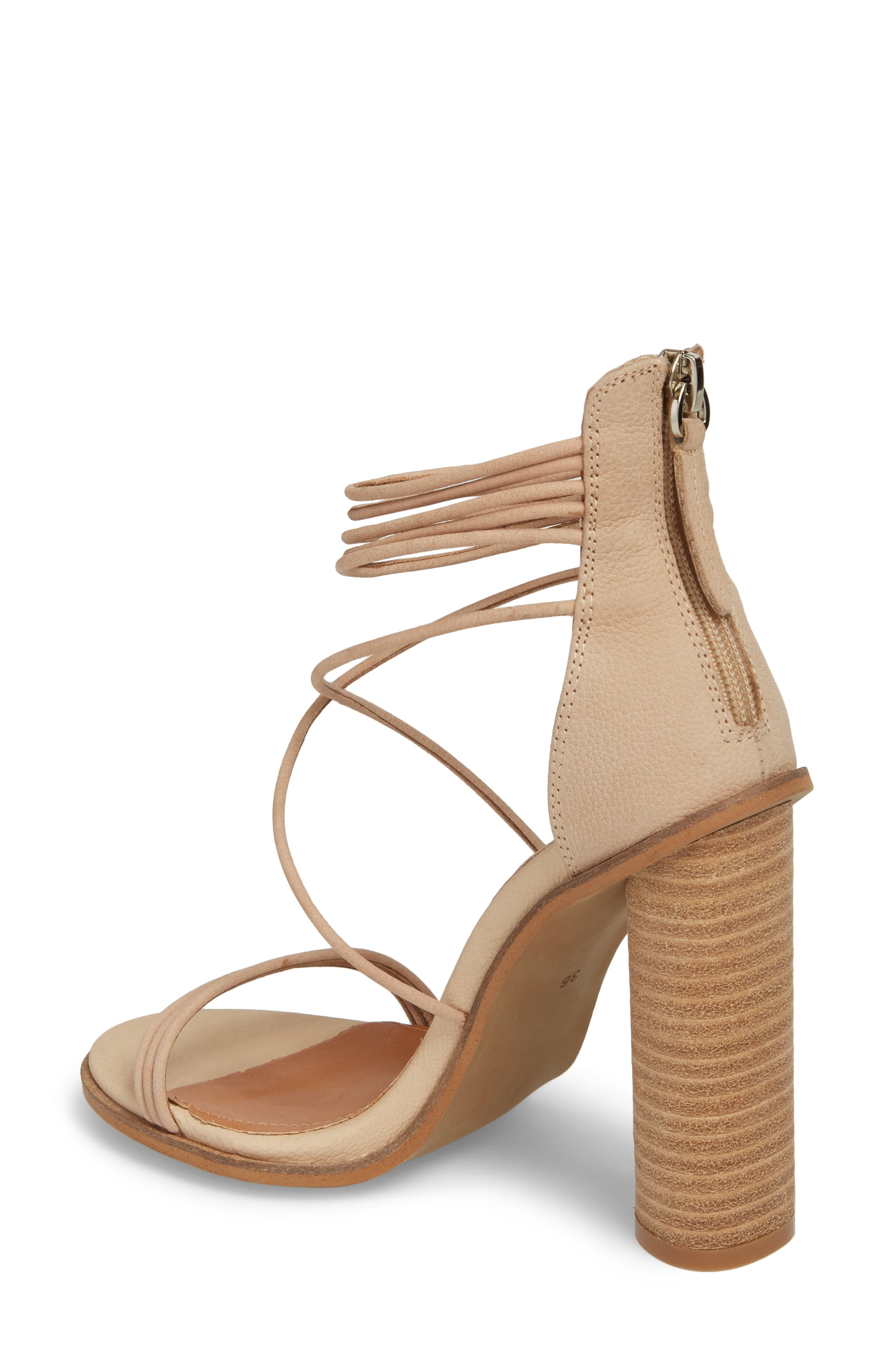 Aflux Tall Strappy Sandal,                             Alternate thumbnail 2, color,                             NATURAL LEATHER