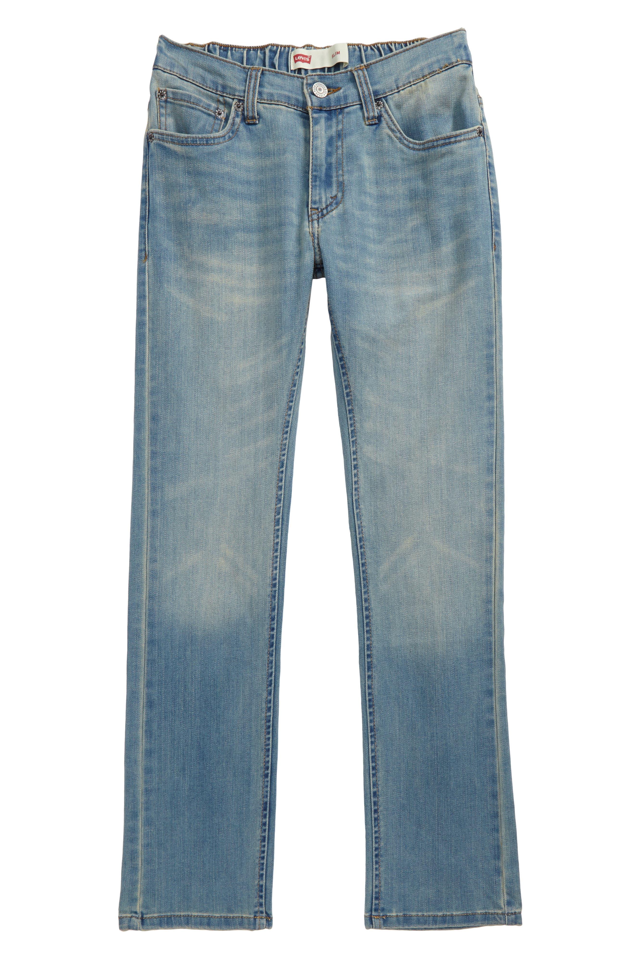 Comfort Slim Fit Straight Leg Jeans,                         Main,                         color, 400