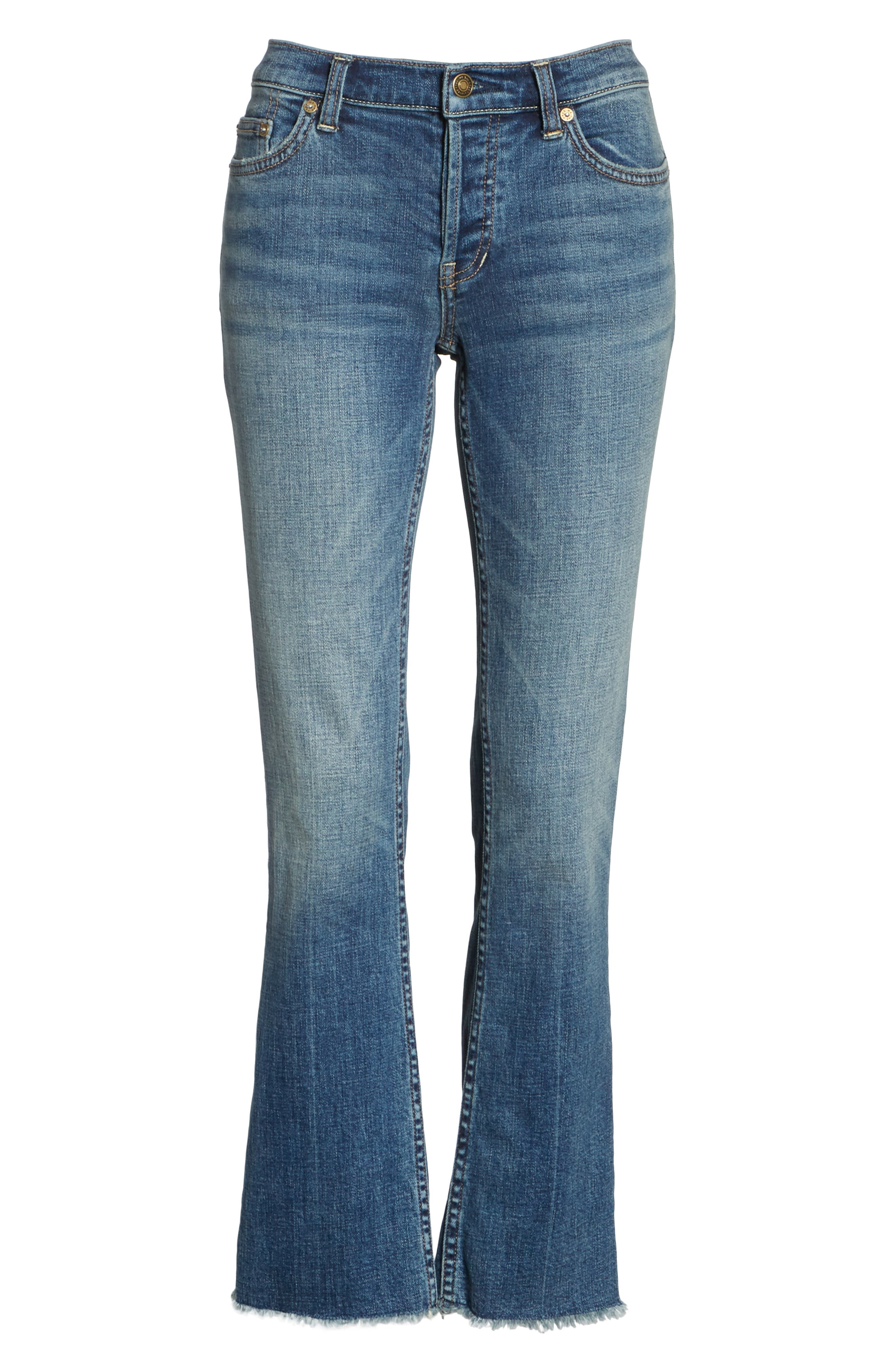 We the Free by Free People Austin Raw Hem Ankle Jeans,                             Alternate thumbnail 7, color,                             BLUE