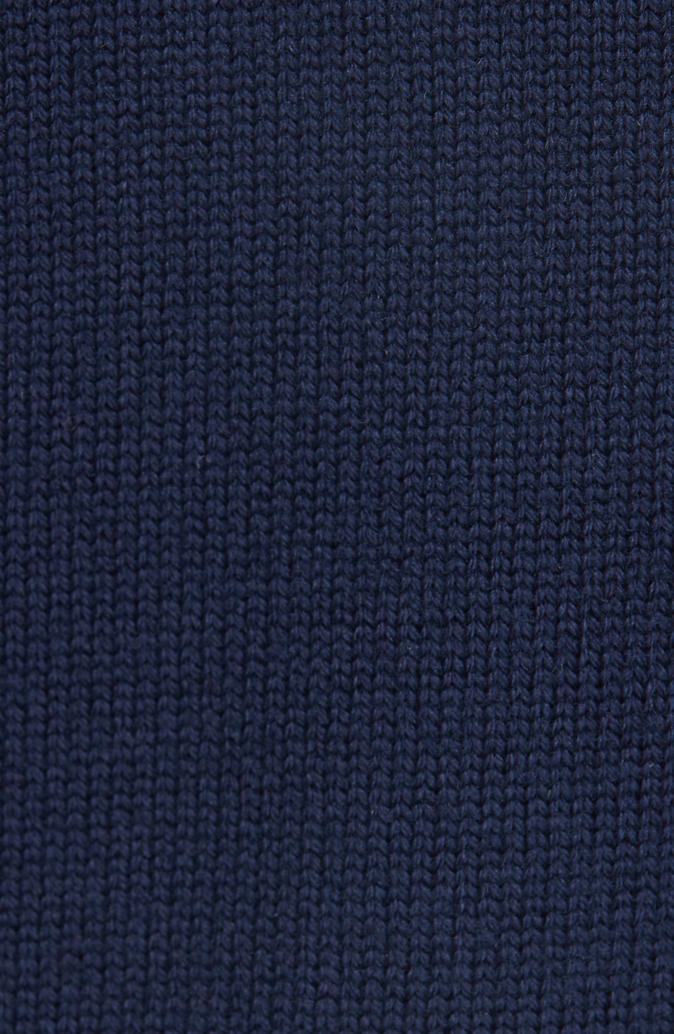 Wool Logo Cardigan,                             Alternate thumbnail 5, color,                             NAVY BLUE