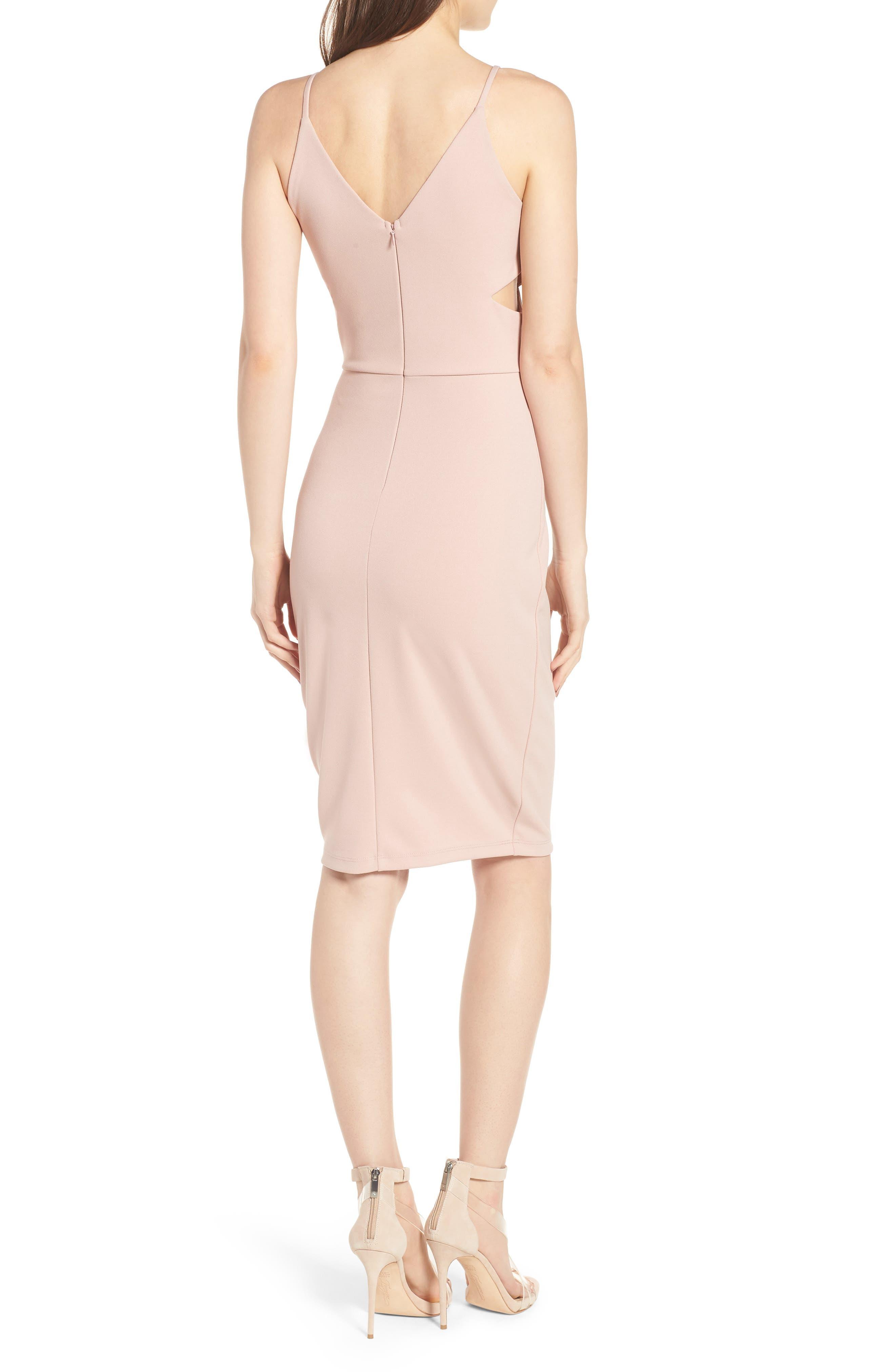Side Cutout Body-Con Dress,                             Alternate thumbnail 4, color,