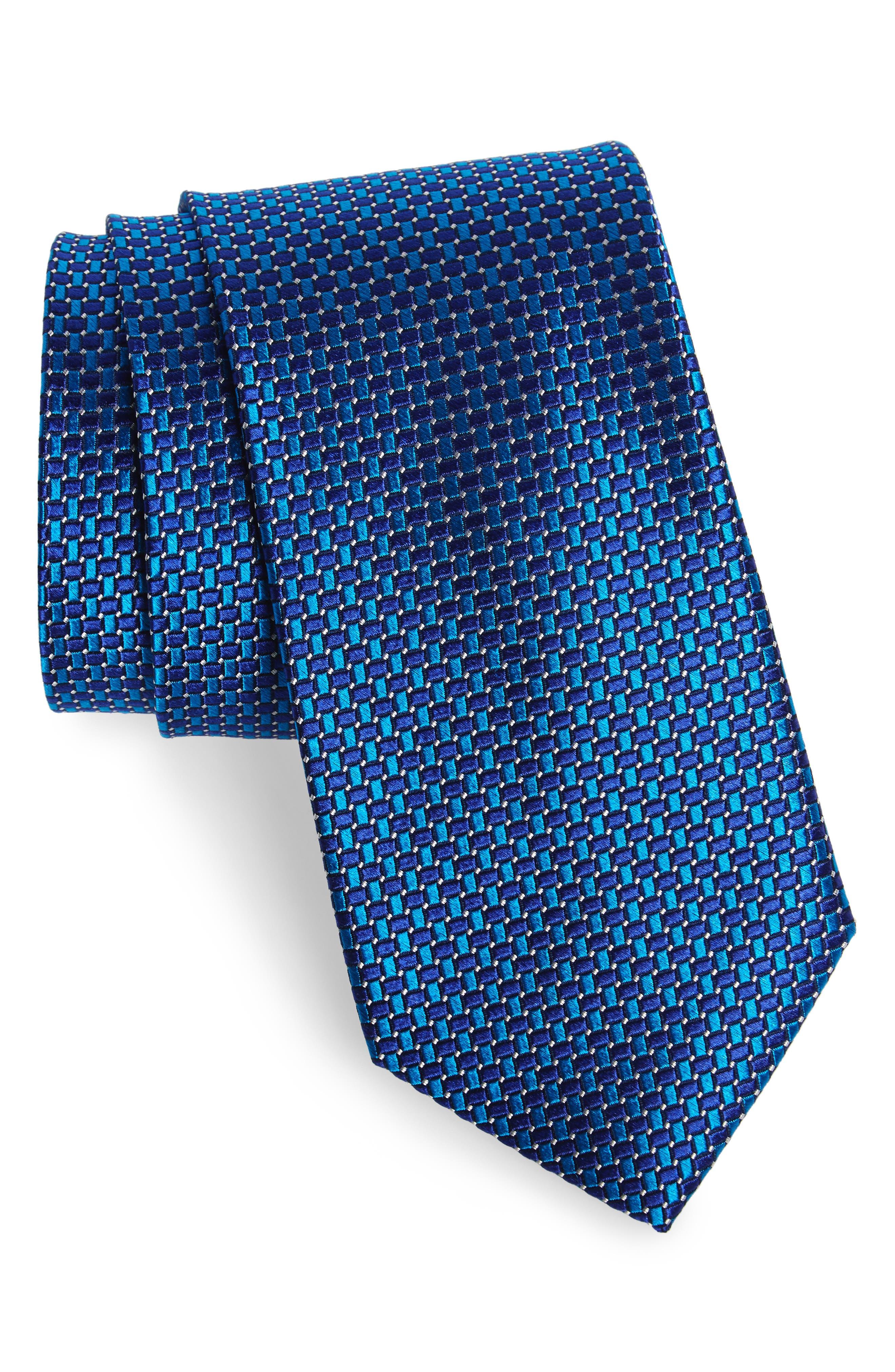 Basketweave Silk Tie,                             Main thumbnail 3, color,