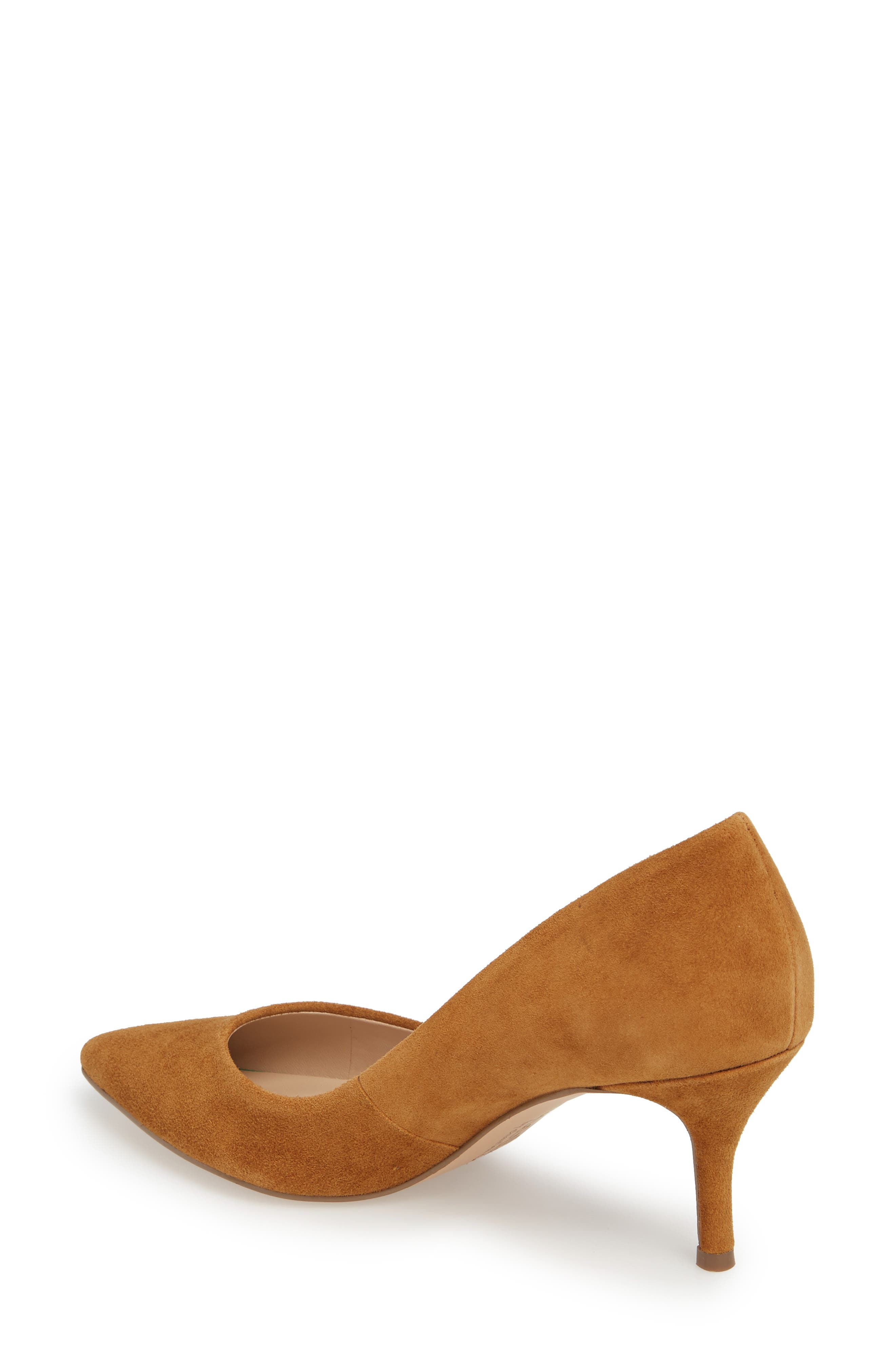 Addie Pump,                             Alternate thumbnail 2, color,                             AMBER SUEDE