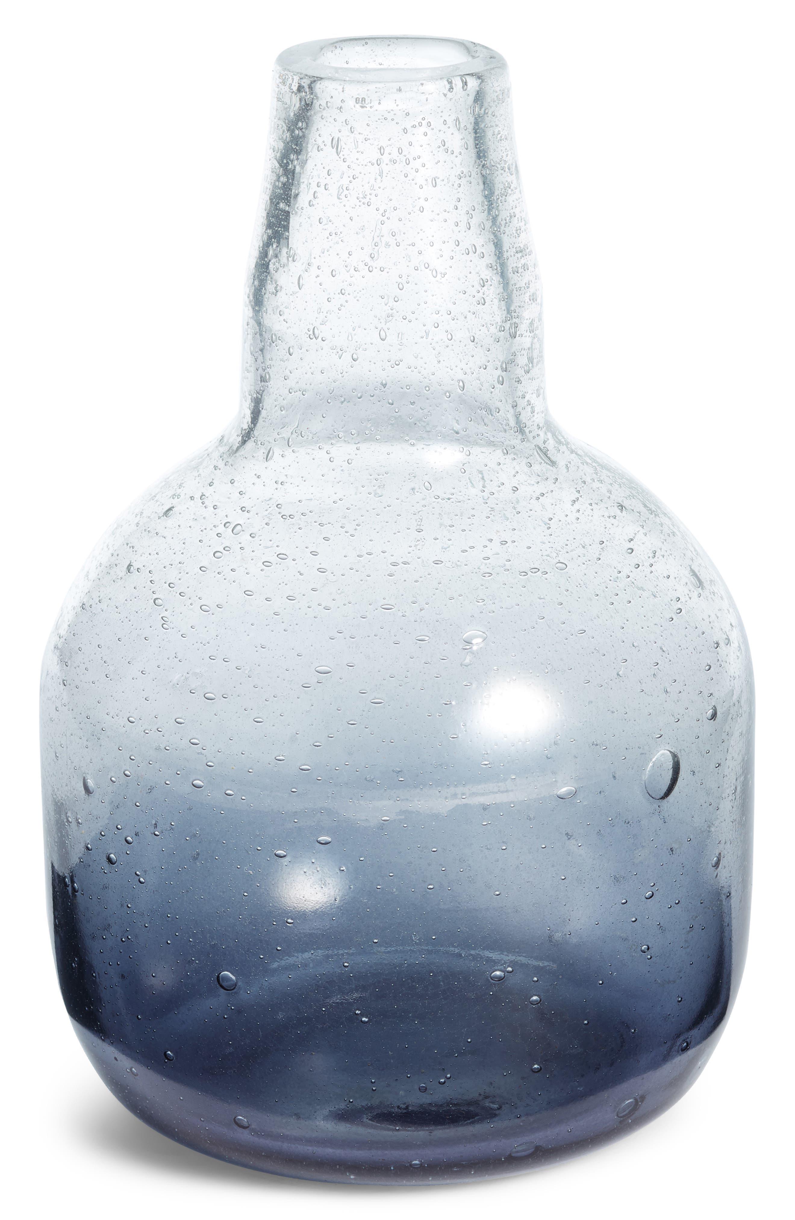 Small Tinted Glass Vase,                             Main thumbnail 1, color,                             GREY