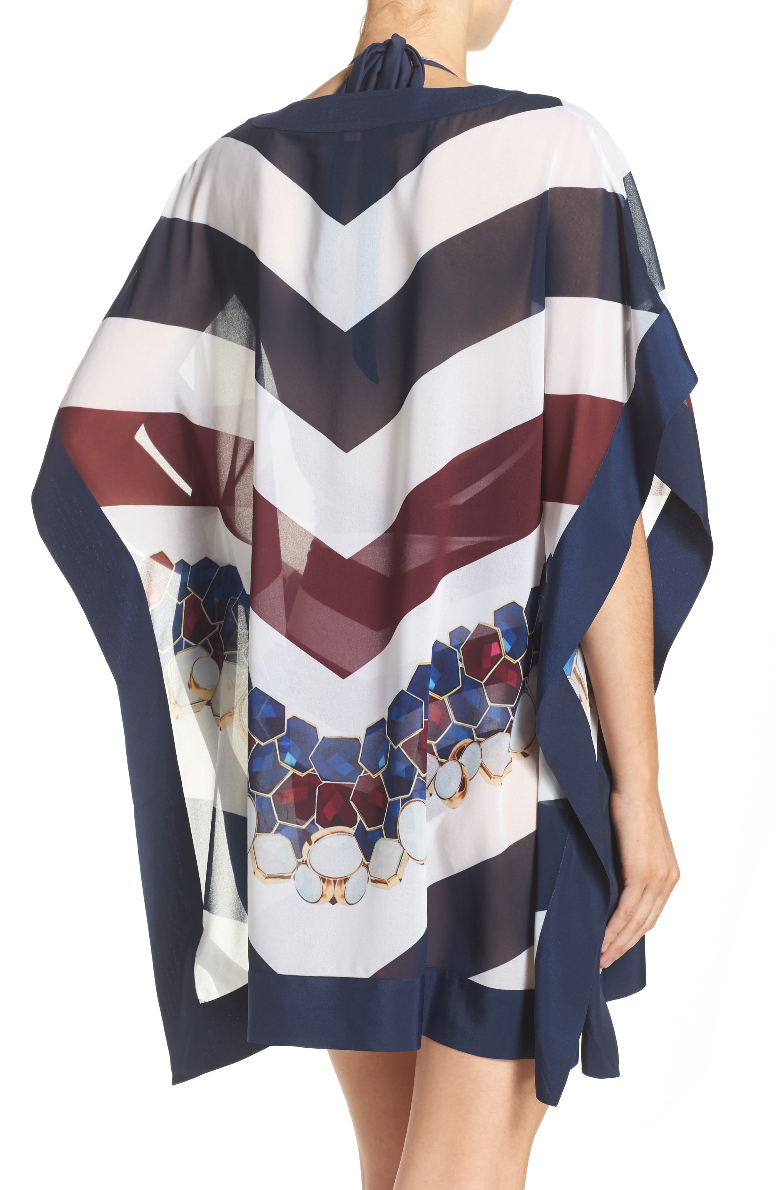 Rowing Stripe Cover-Up Tunic,                             Alternate thumbnail 2, color,