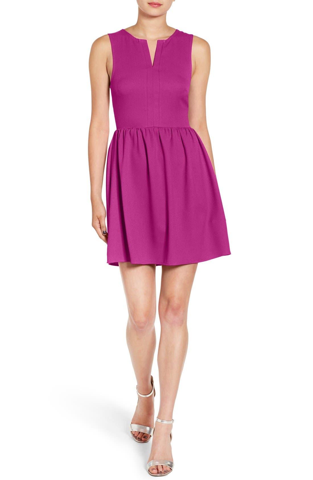 'Rowan' V-Neck Skater Dress,                             Main thumbnail 10, color,