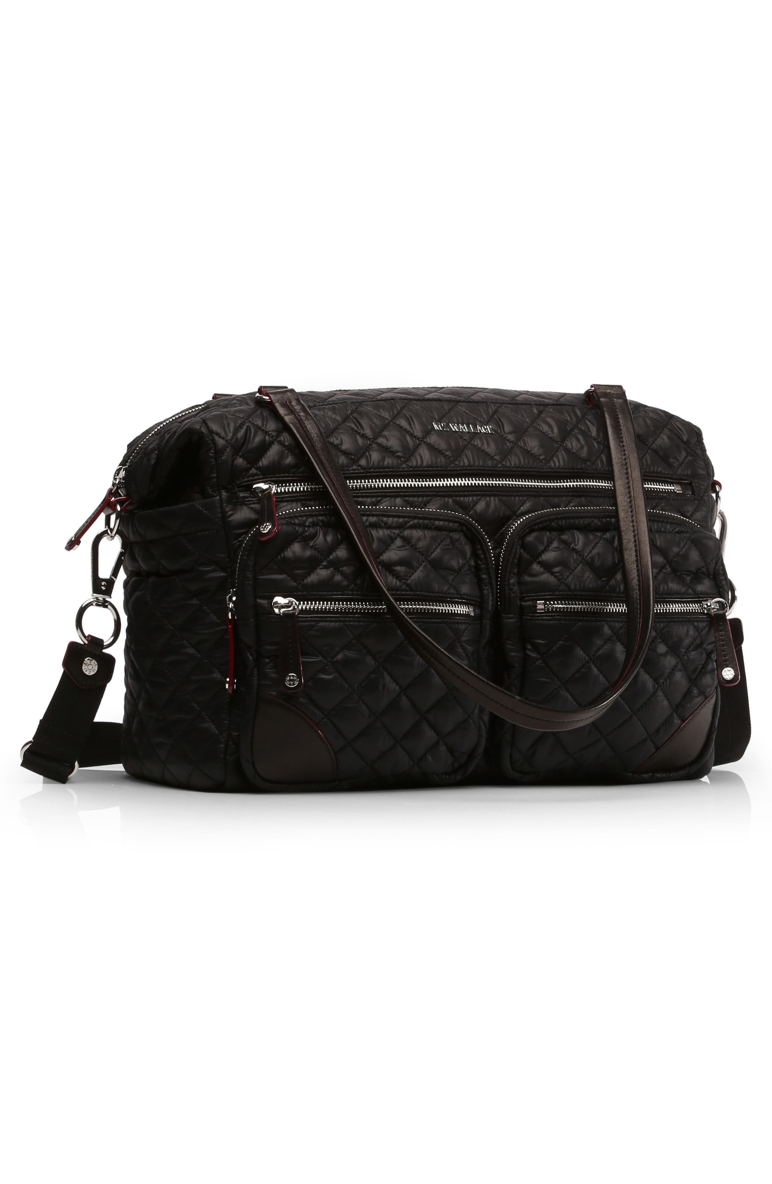 Crosby Quilted Traveler Oxford Nylon Diaper Bag,                             Alternate thumbnail 2, color,                             008
