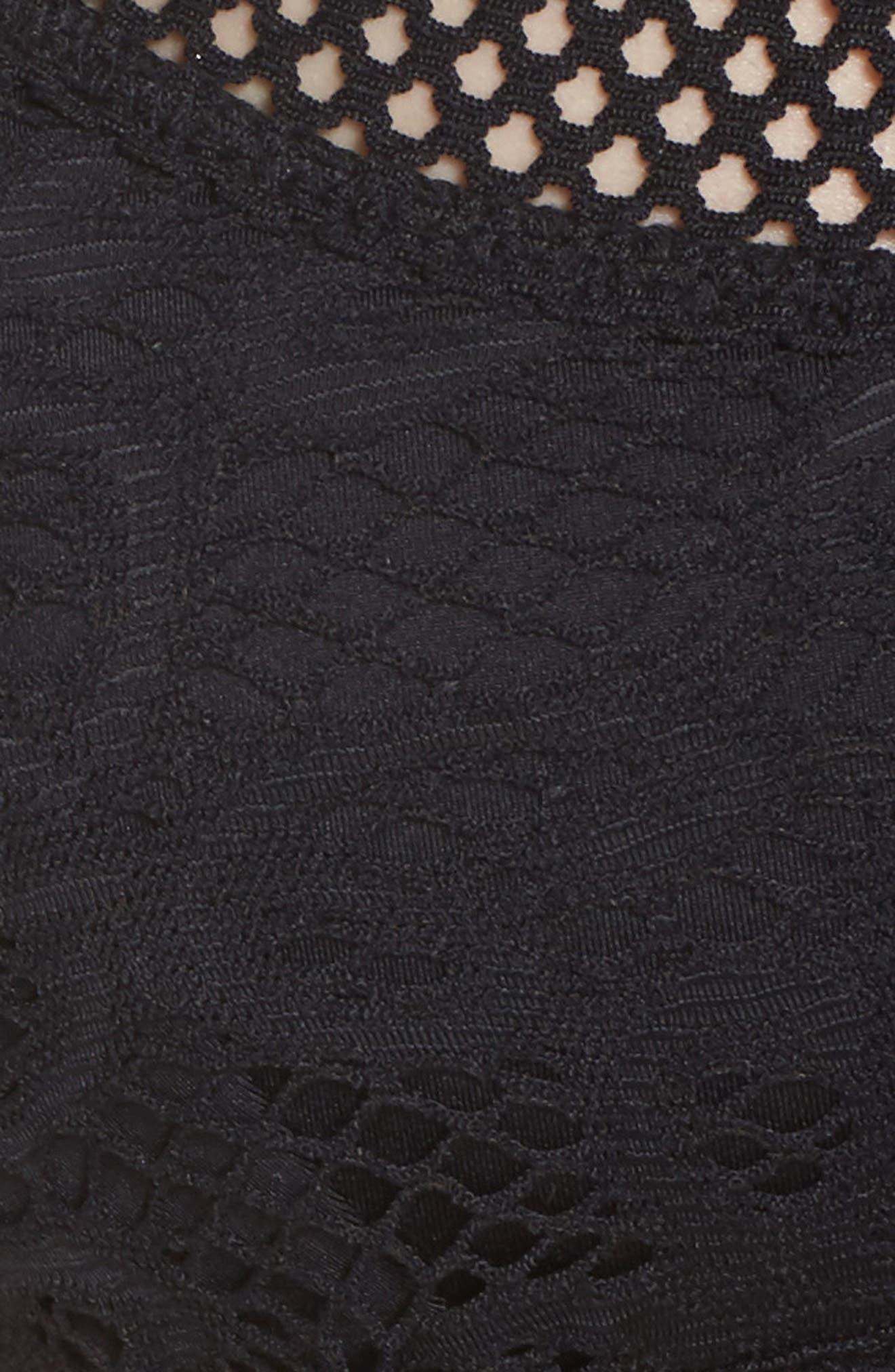 Captured Crochet Full Figure Bikini Top,                             Alternate thumbnail 5, color,                             001