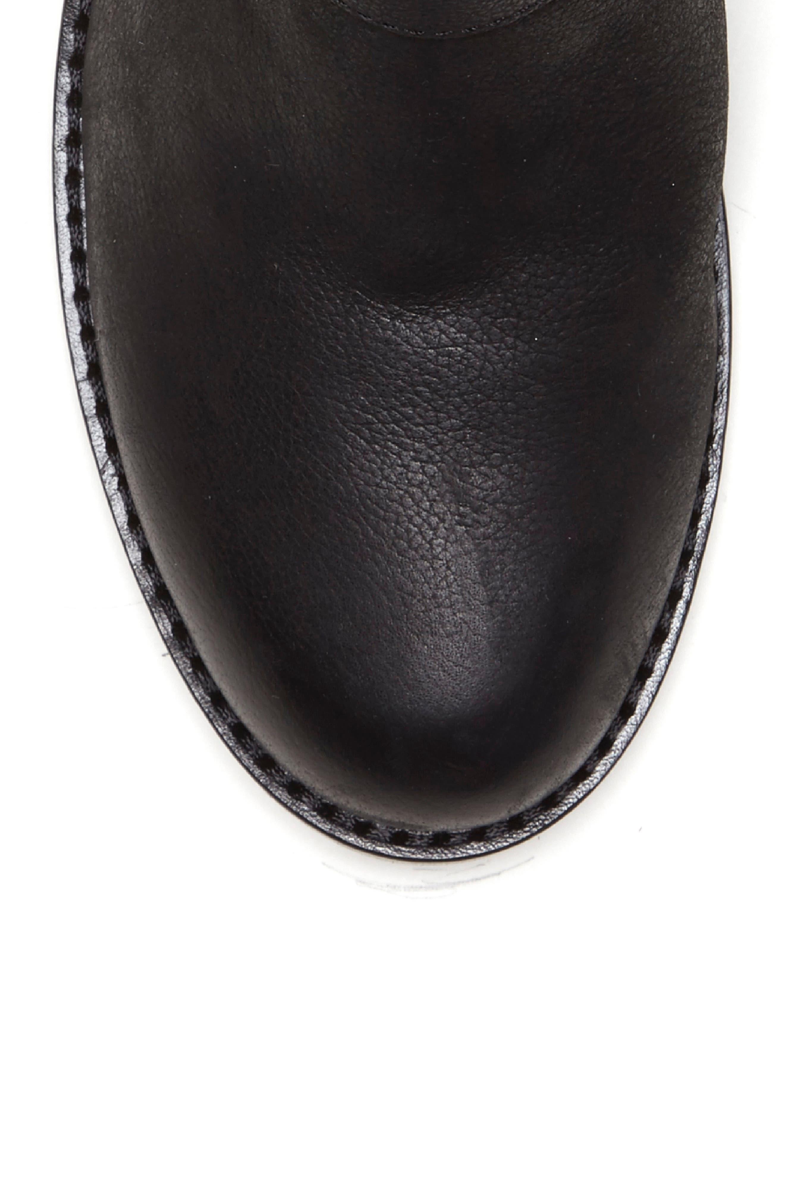 Wantilla Boot,                             Alternate thumbnail 7, color,                             BLACK LEATHER