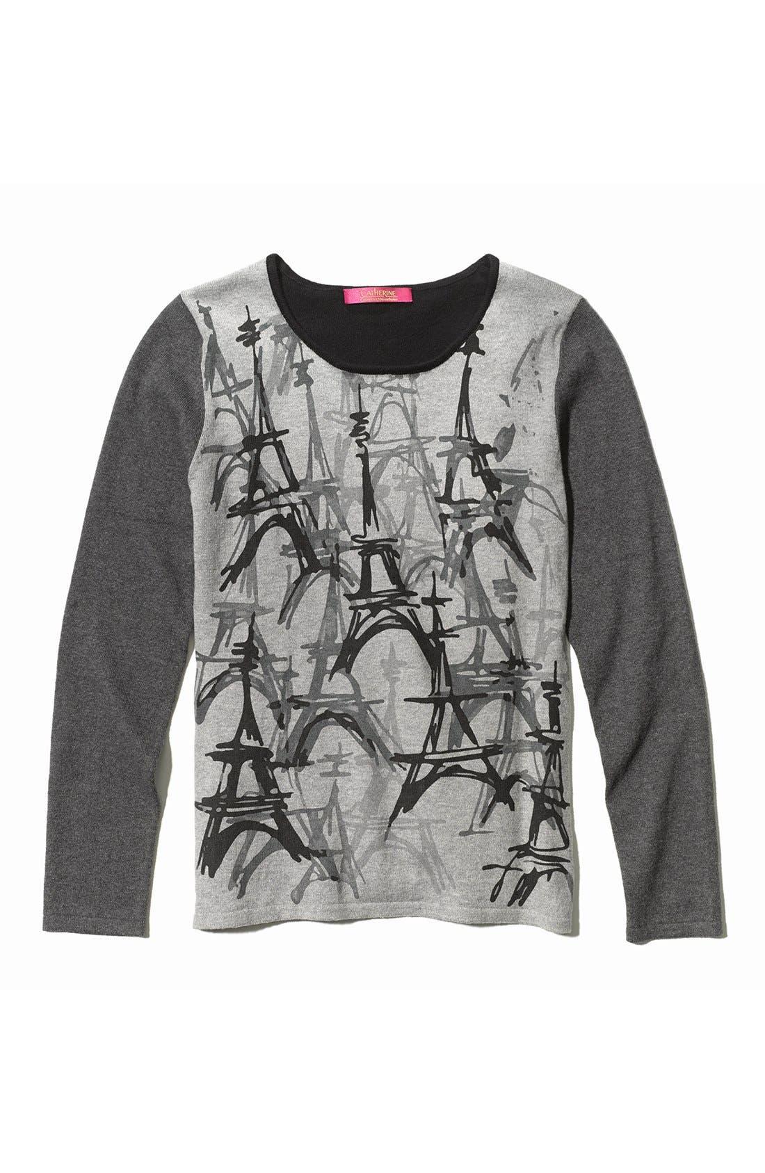 CATHERINE CATHERINE MALANDRINO,                             'Eiffel Tower' Sweater,                             Alternate thumbnail 3, color,                             445