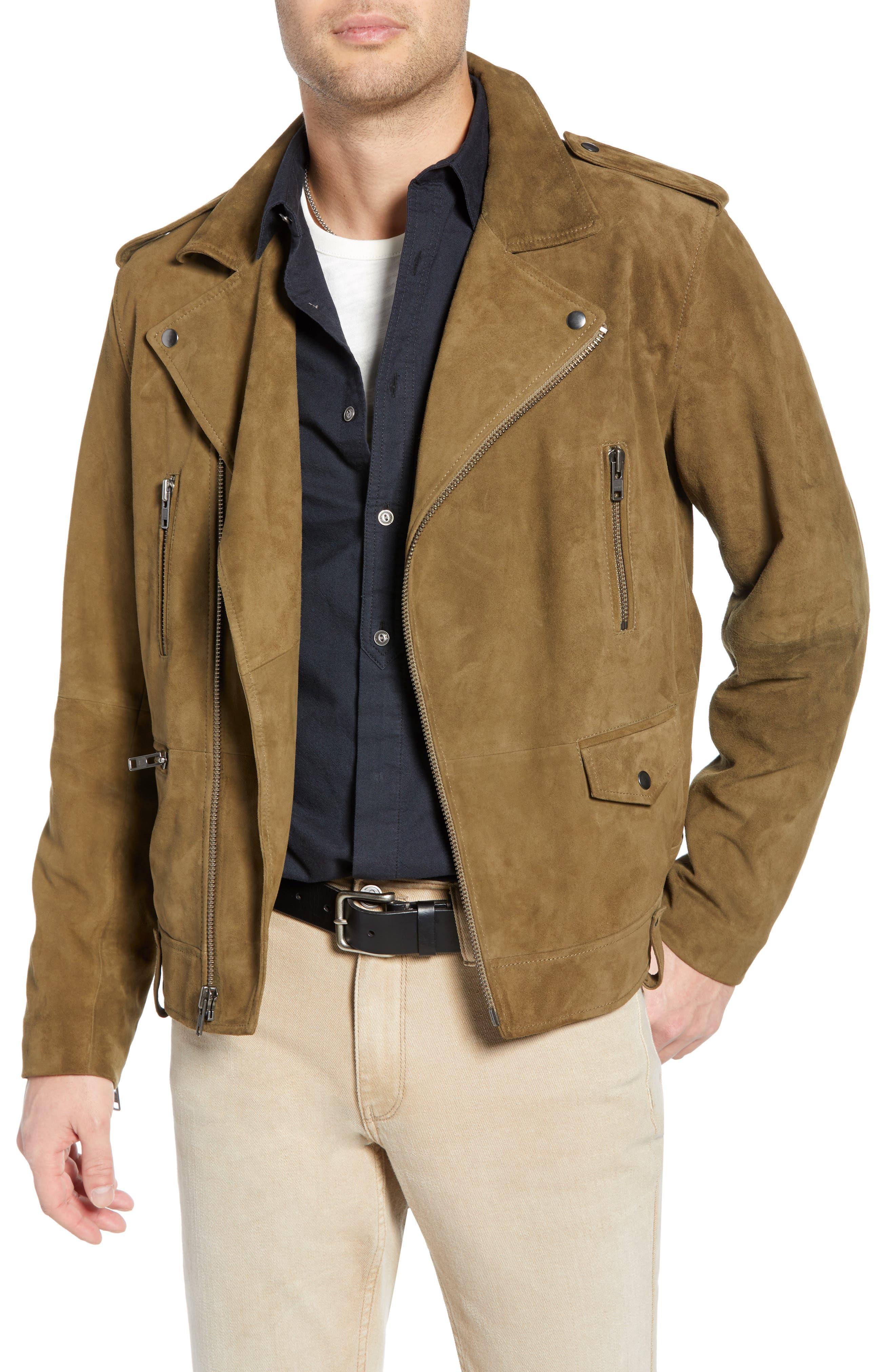 Treasure & Bond Suede Moto Jacket