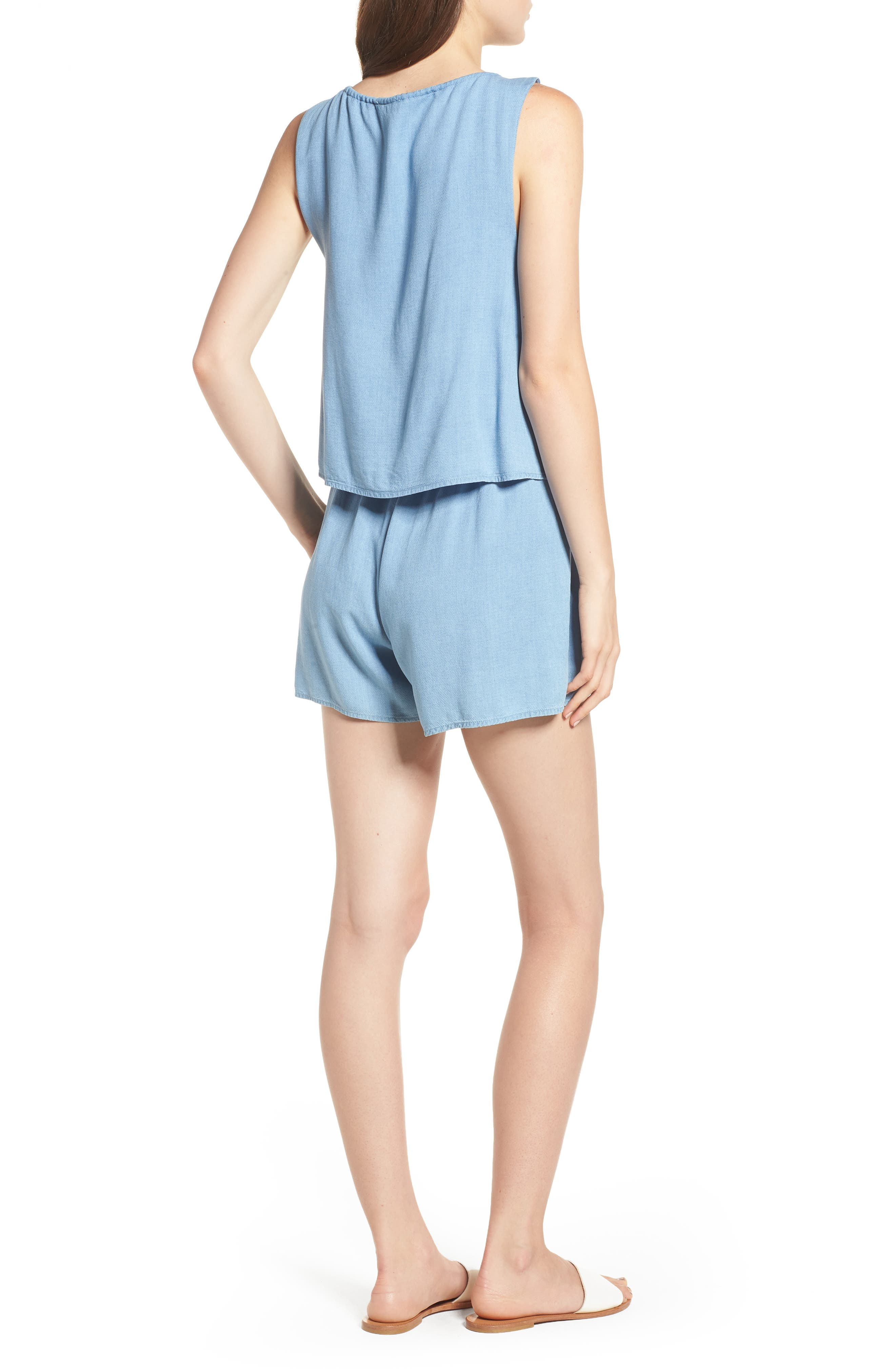 Chambray Romper,                             Alternate thumbnail 2, color,                             400