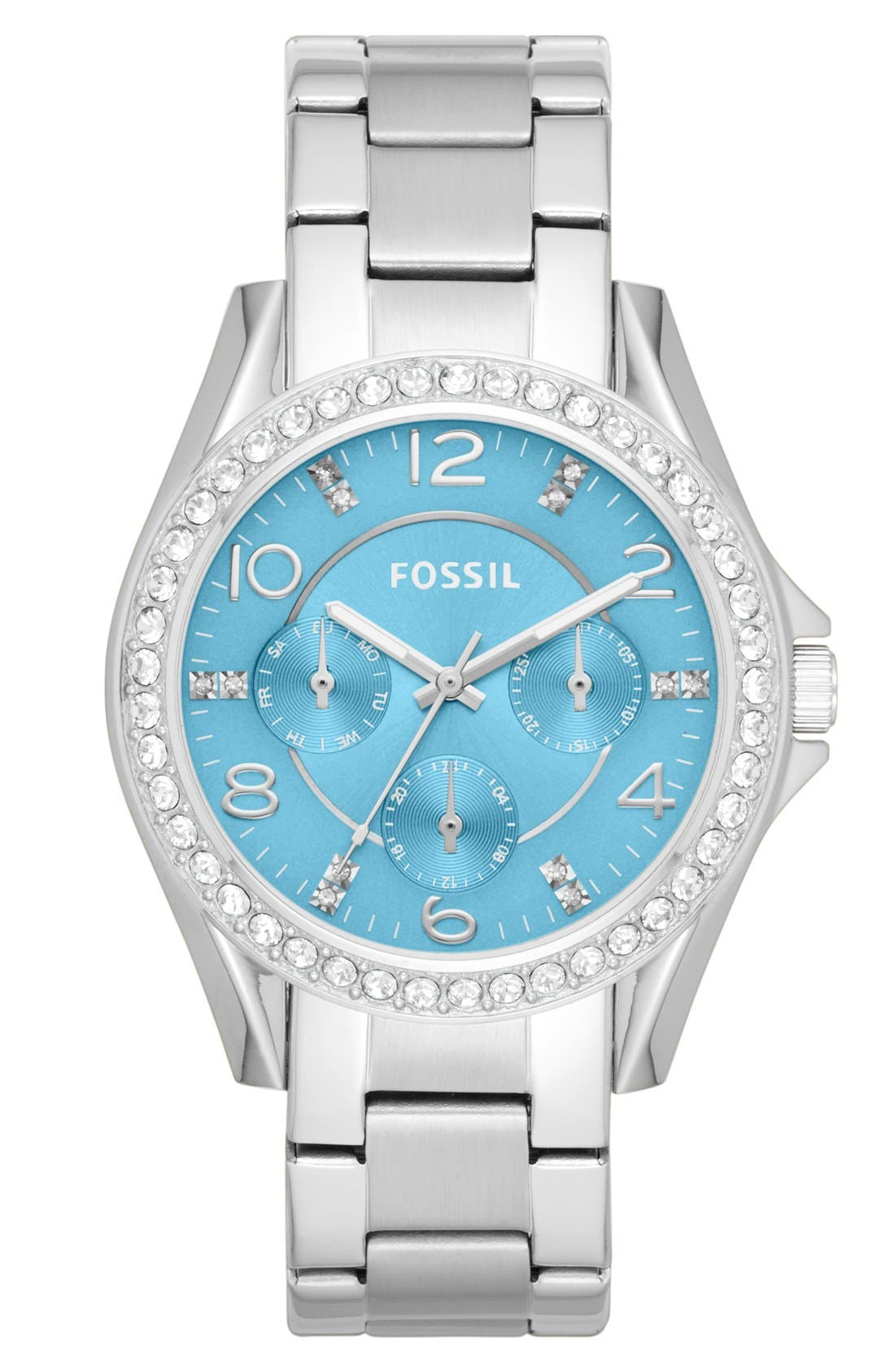 'Riley' Round Crystal Bezel Bracelet Watch, 38mm,                             Main thumbnail 7, color,