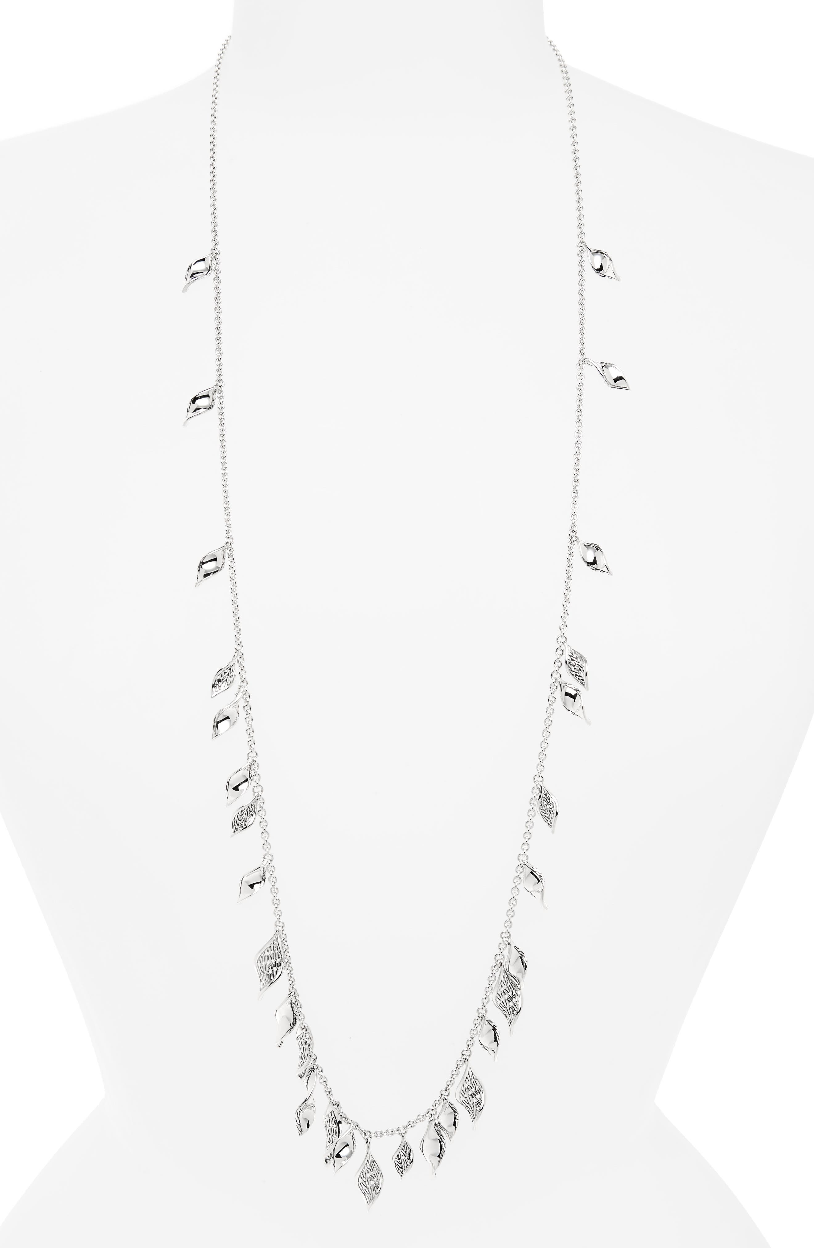 Classic Chain Silver Necklace,                             Main thumbnail 1, color,                             SILVER