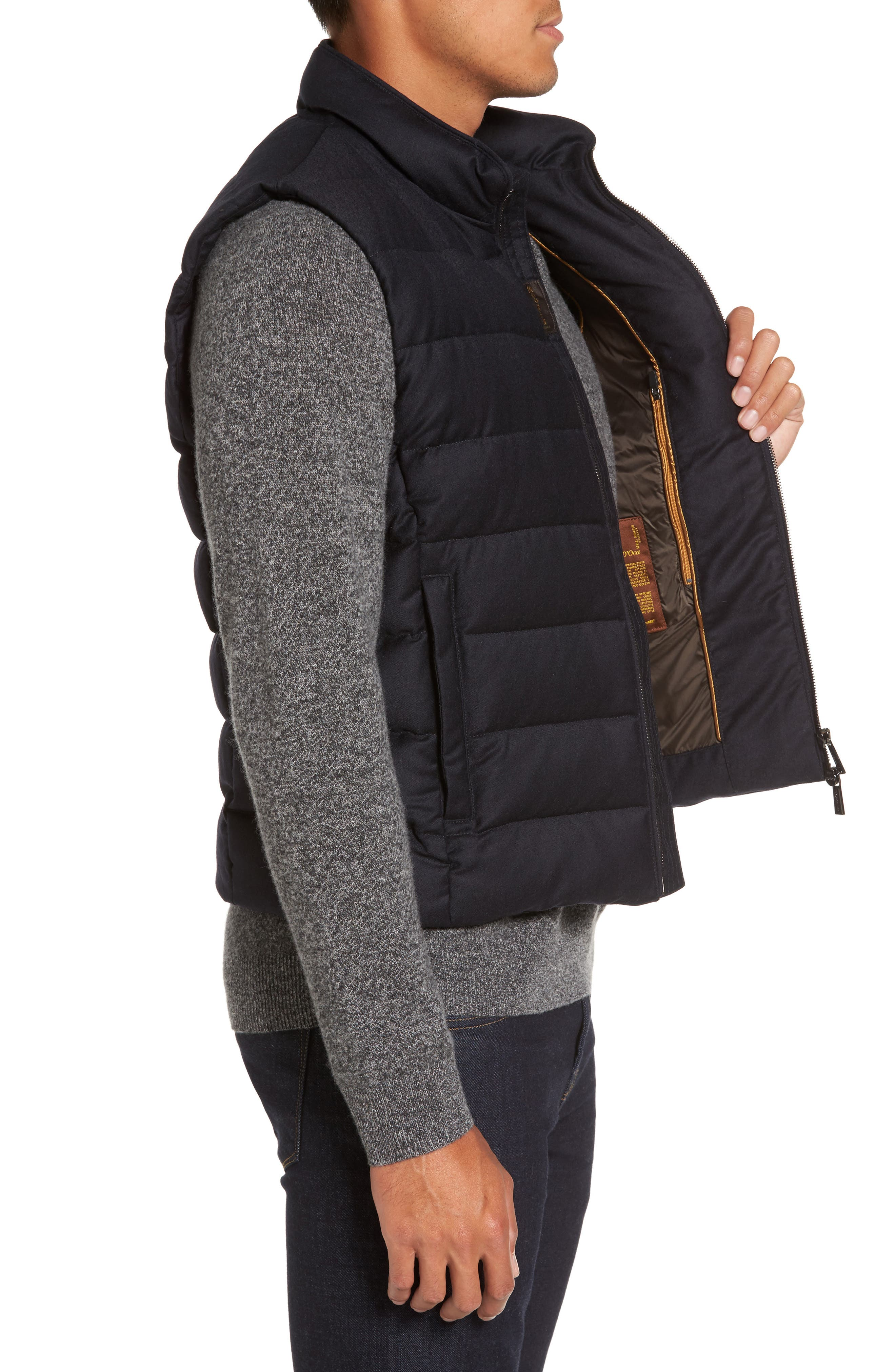 Oliver L Wool & Cashmere Flannel Waterproof Vest,                             Alternate thumbnail 3, color,                             402